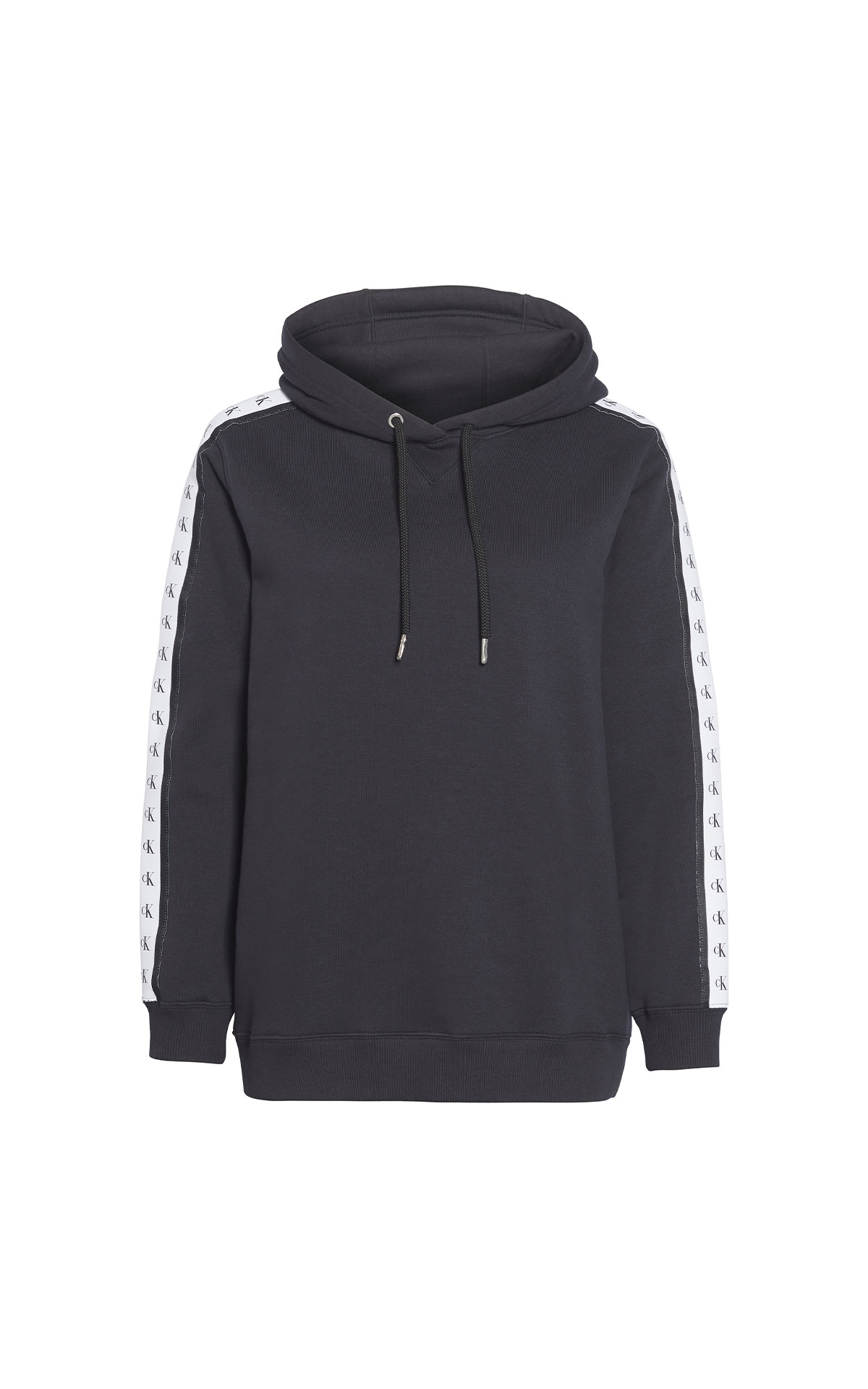 Calvin Klein Jeans Mono tape hoodie black beauty from Bicester Village