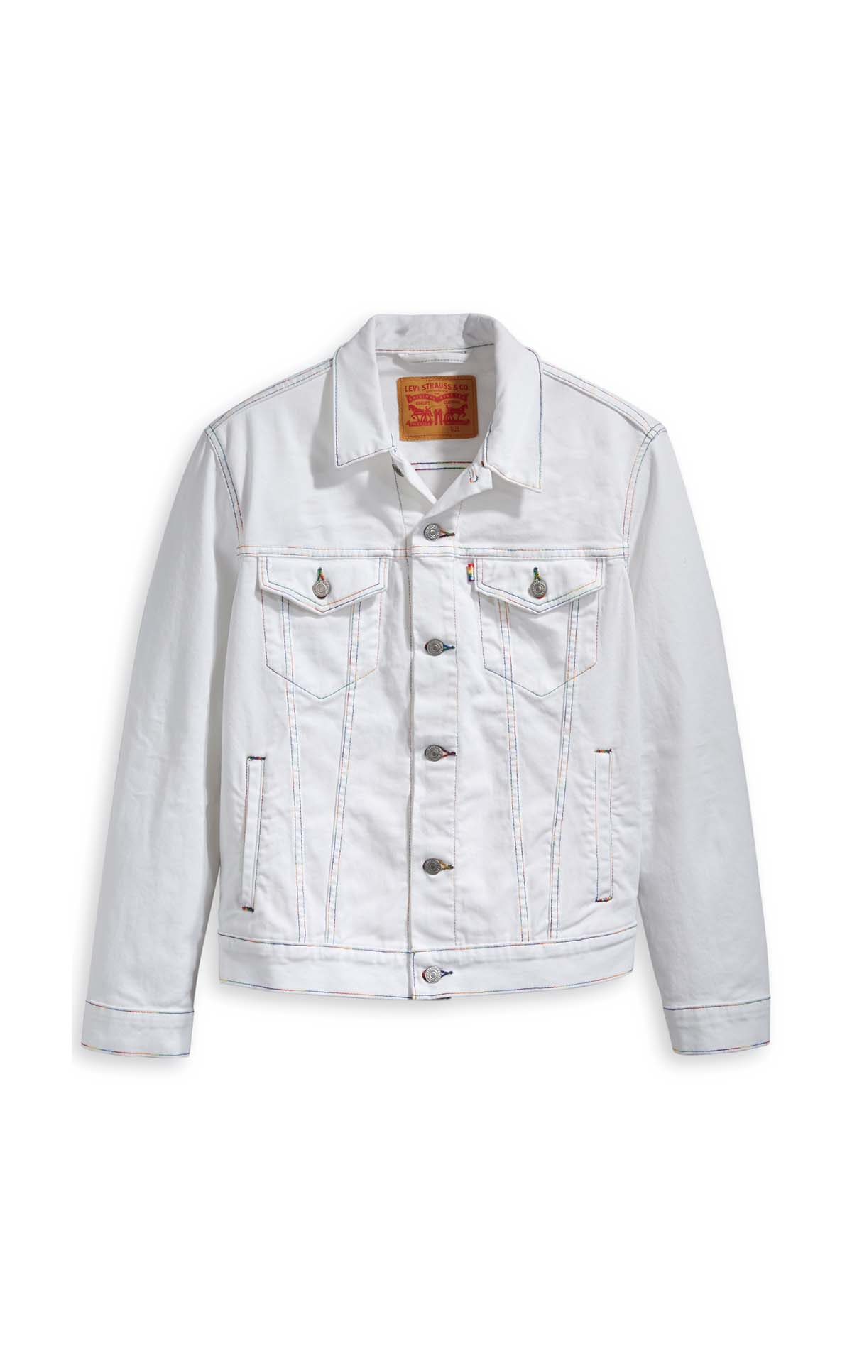 Levi's The trucker jacket in white at The Bicester Village Shopping Collection