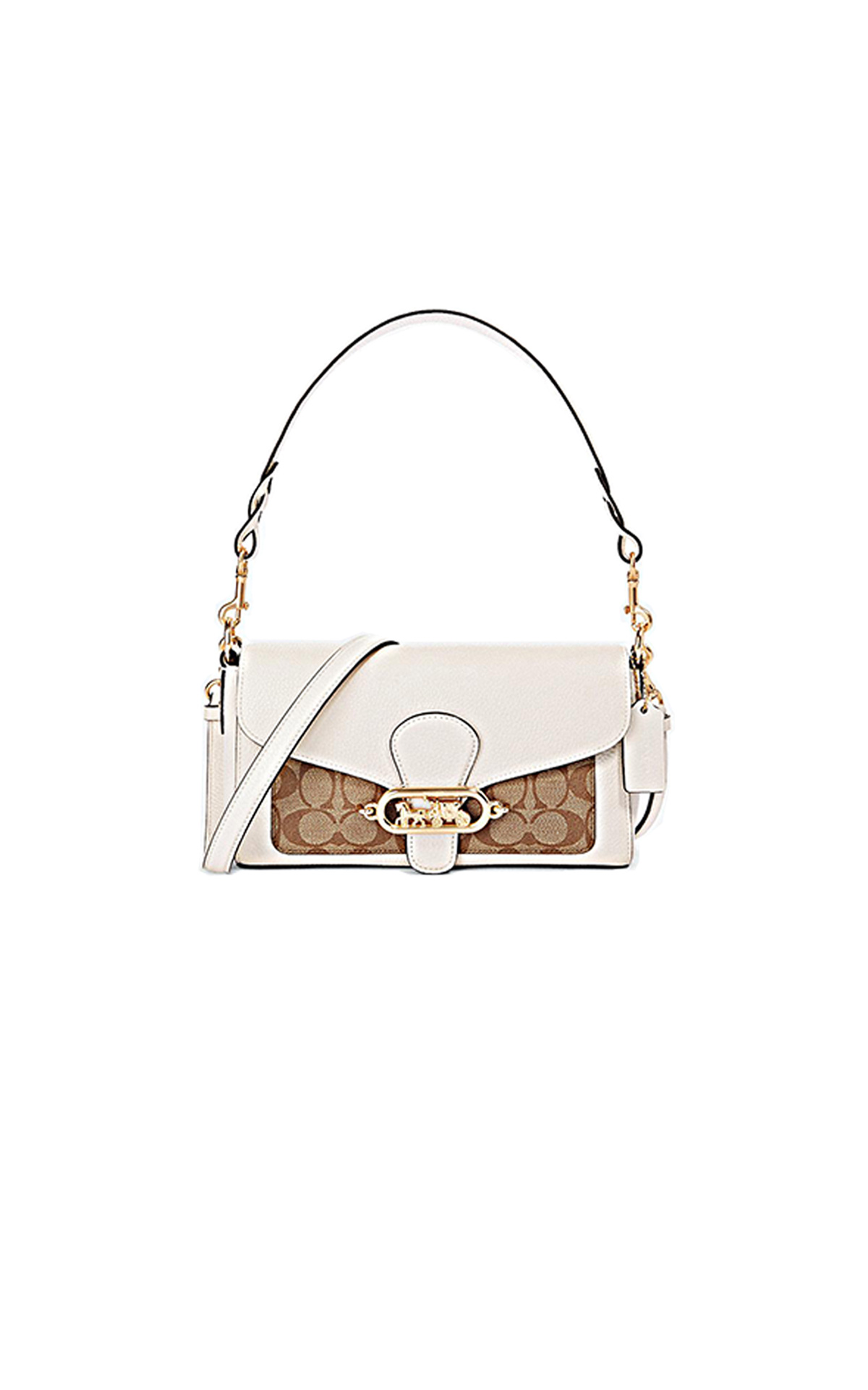 Brown and white Jade small bag Jennifer Lopez Coach