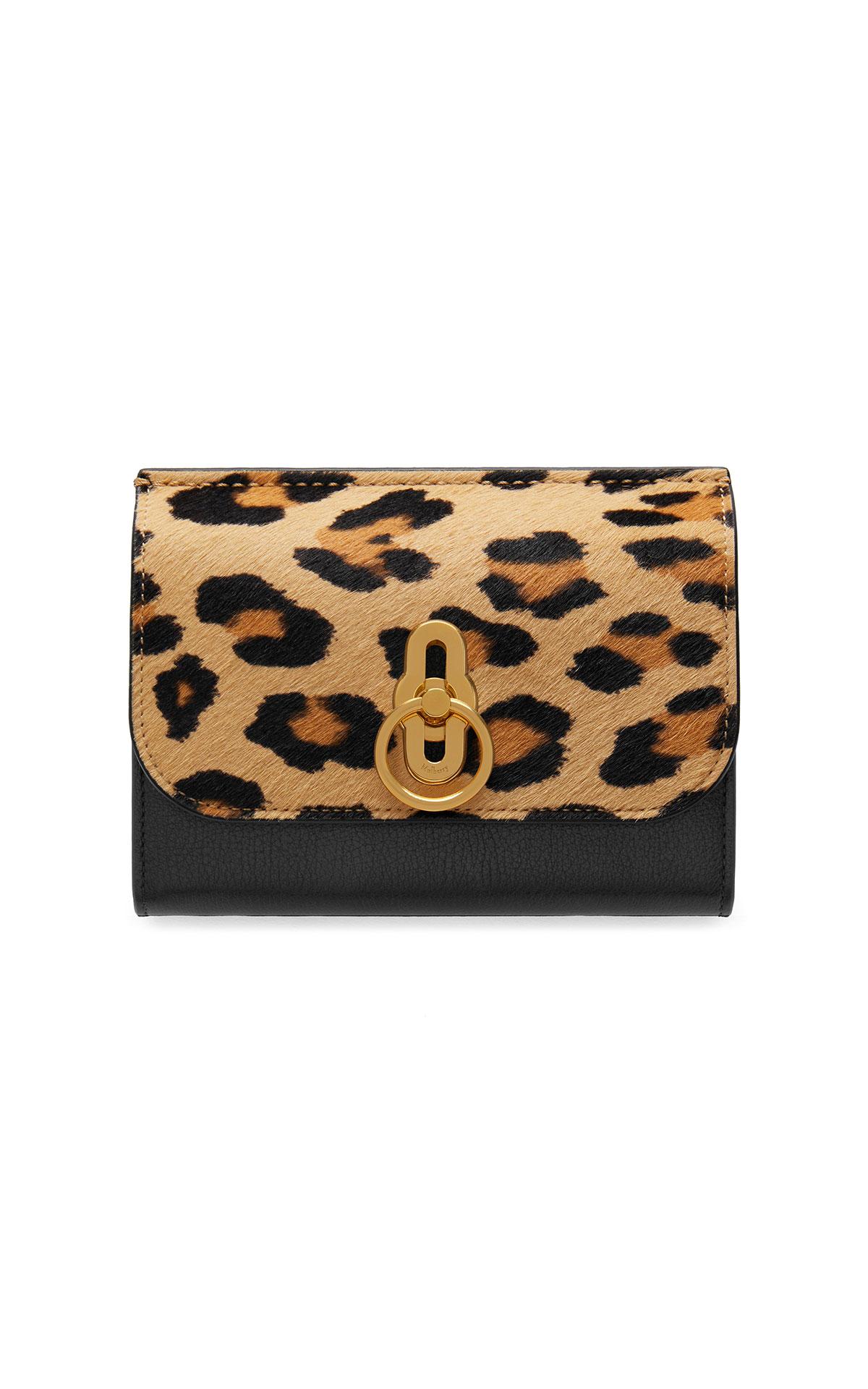 Mulberry Amberley medium wallet leopard & silky c camel and black from Bicester Village