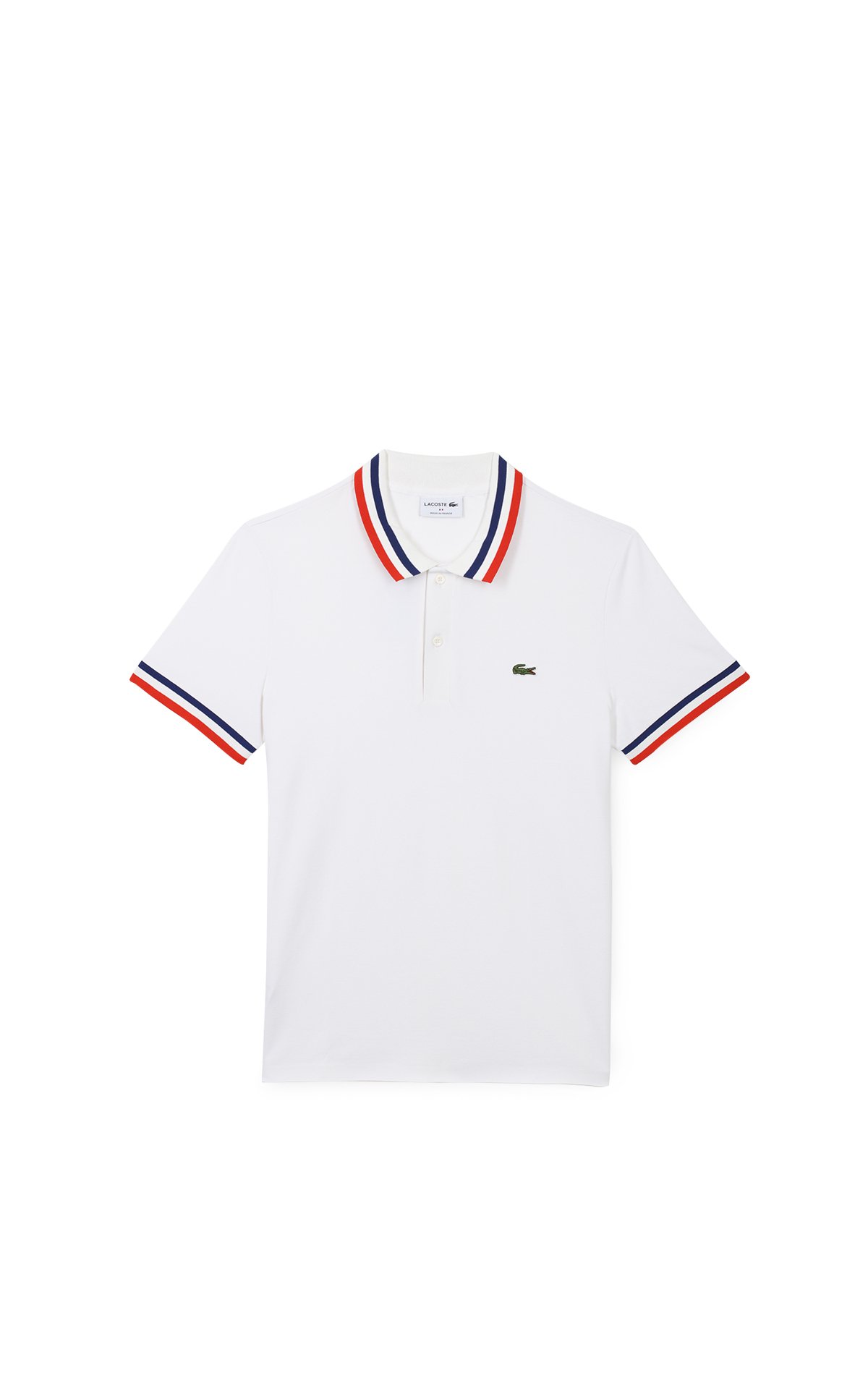 Lacoste White polo shirt Made In France*