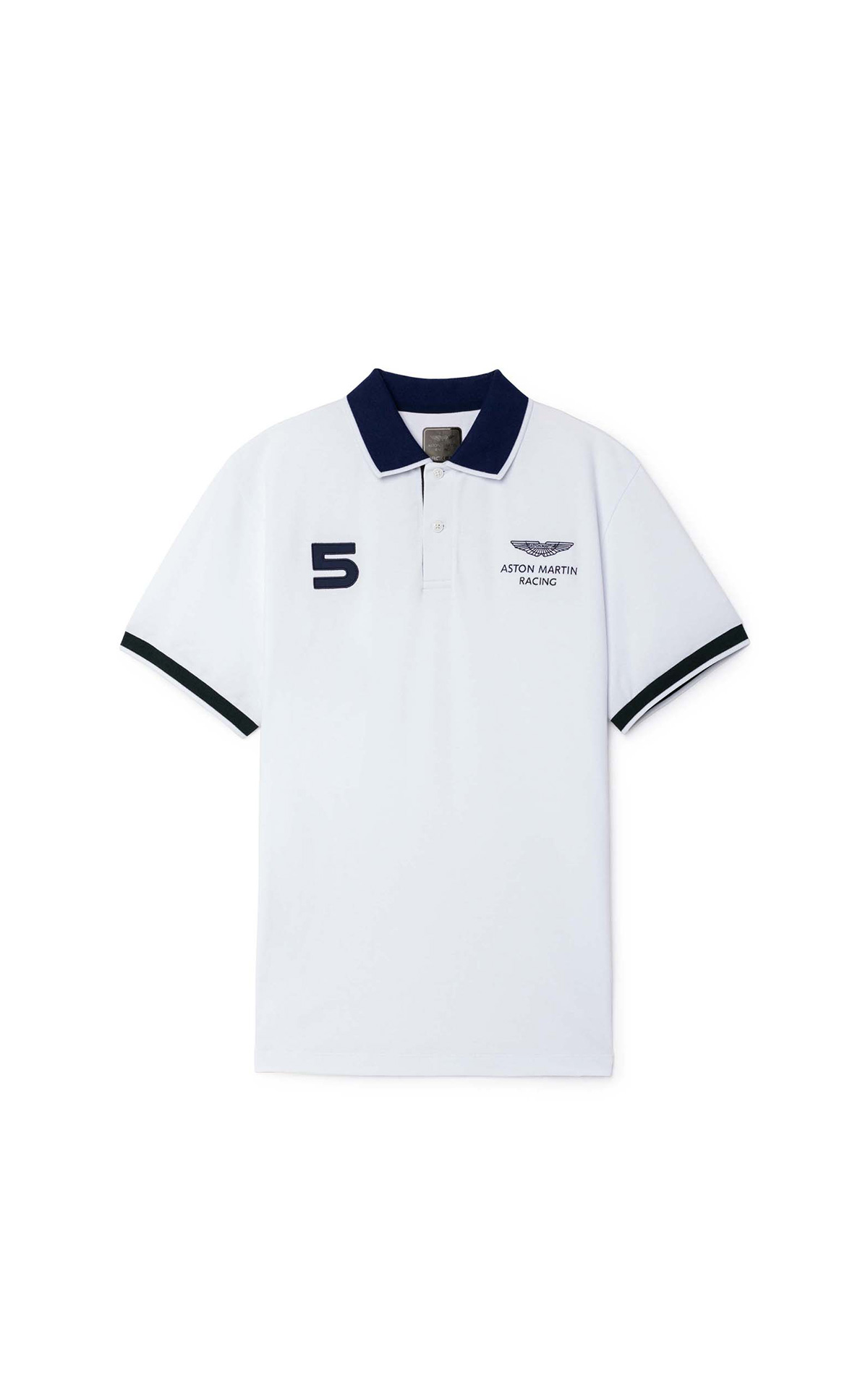 Hackett-London Aston Martin Racing Number Polo Shirt at The Bicester Village Shopping Collection