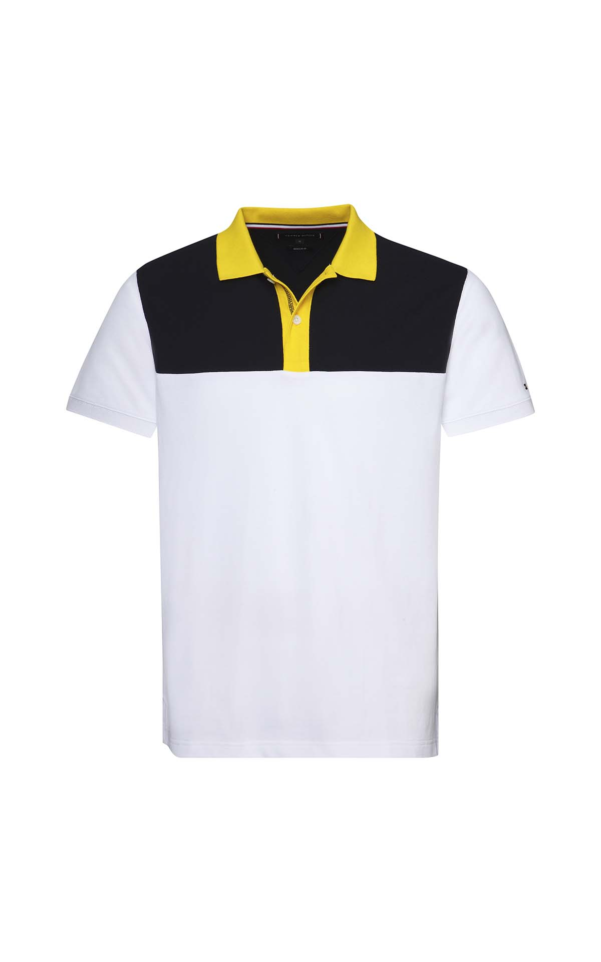 White and navy blue short sleeves polo shirt for man Tommy Hilfiger