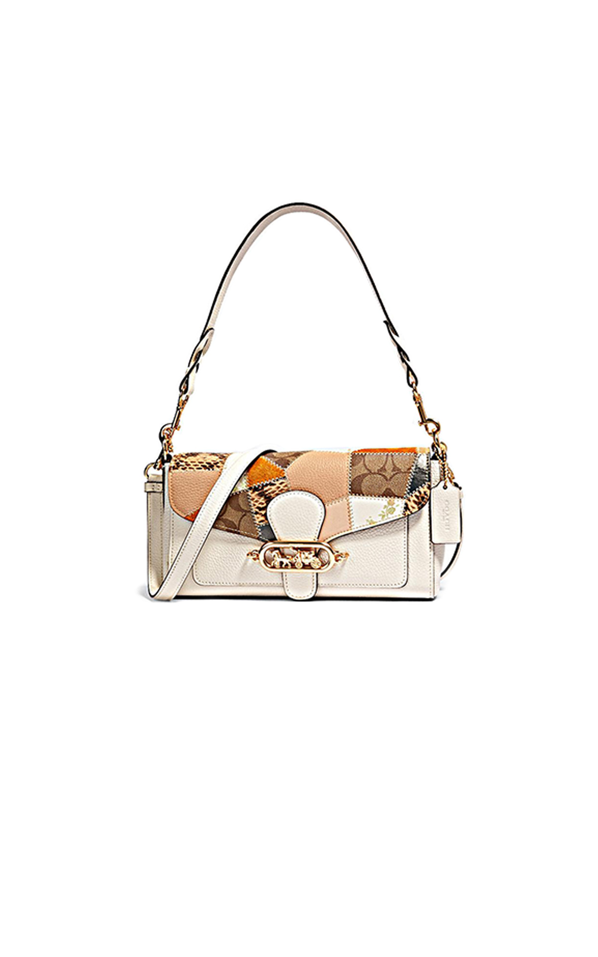 White and printed small Jade bag Jennifer Lopez Coach