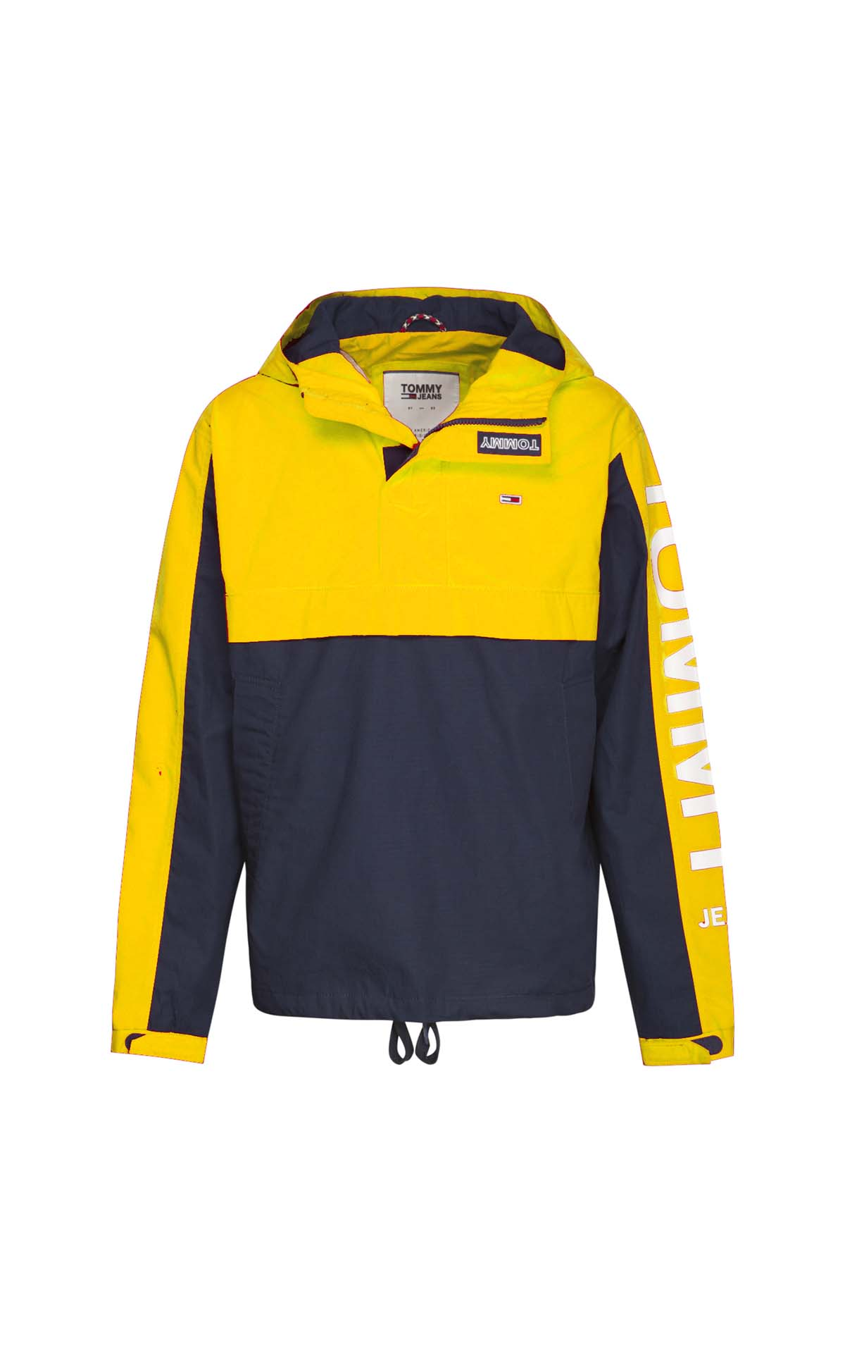Yellow and navy blue raincoat for man Tommy Hilfiger