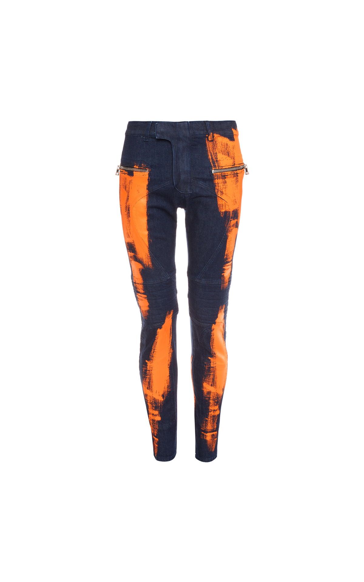 Balmain Men denim jeans orange from Bicester Village