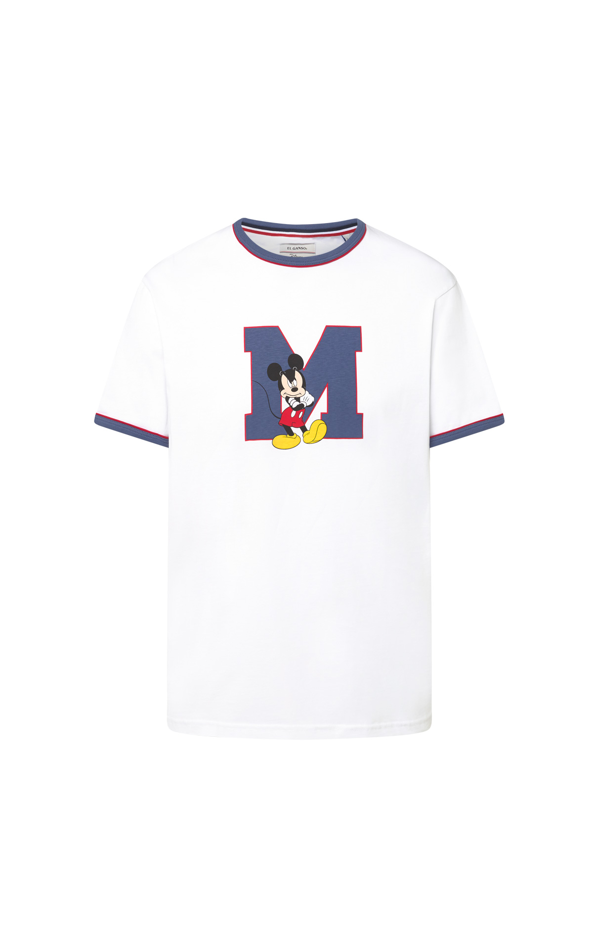 Mickey Mouse white T-shirt for men El Ganso