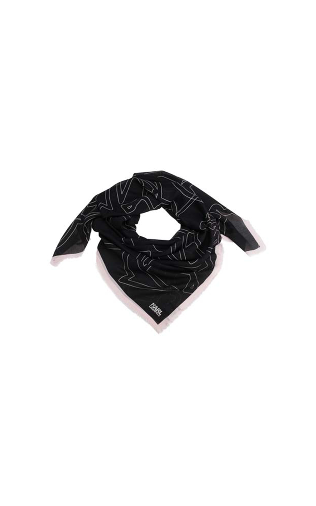 Karl Lagerfeld Kameo AOP Scarf at The Bicester Village Shopping Collection