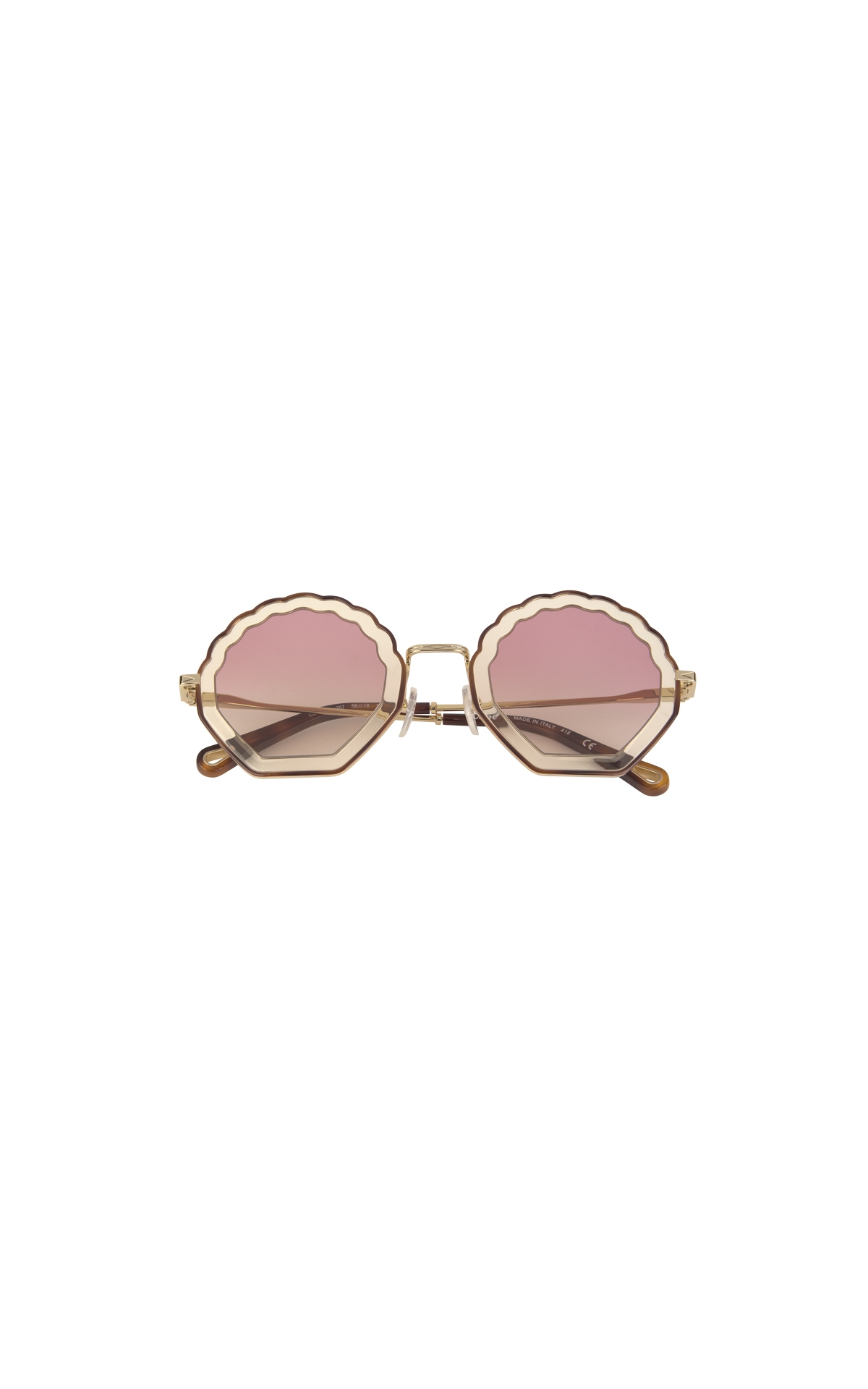 Pink Chloé rounded sunglasses for woman Cottet