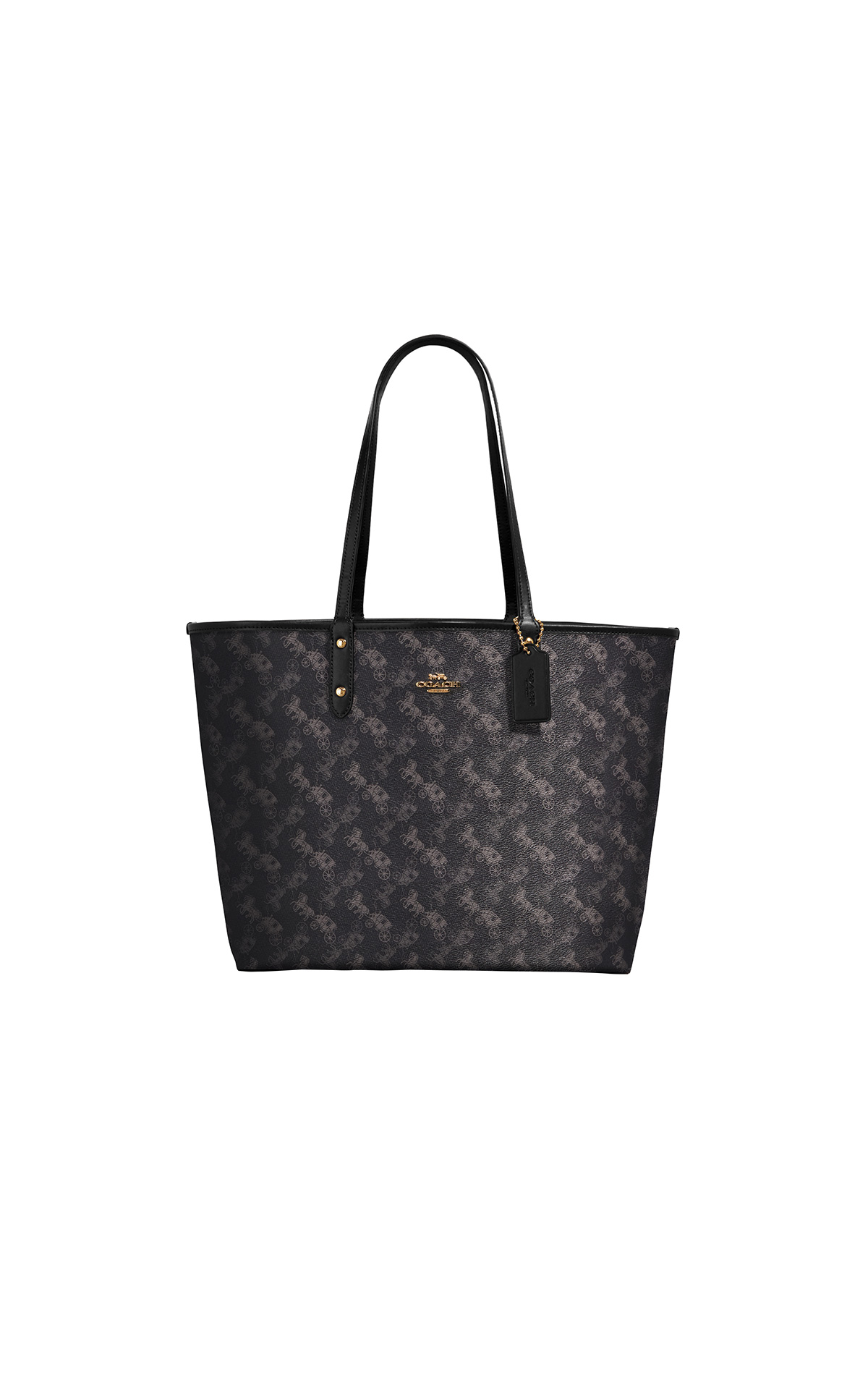 Black printed tote bag Coach