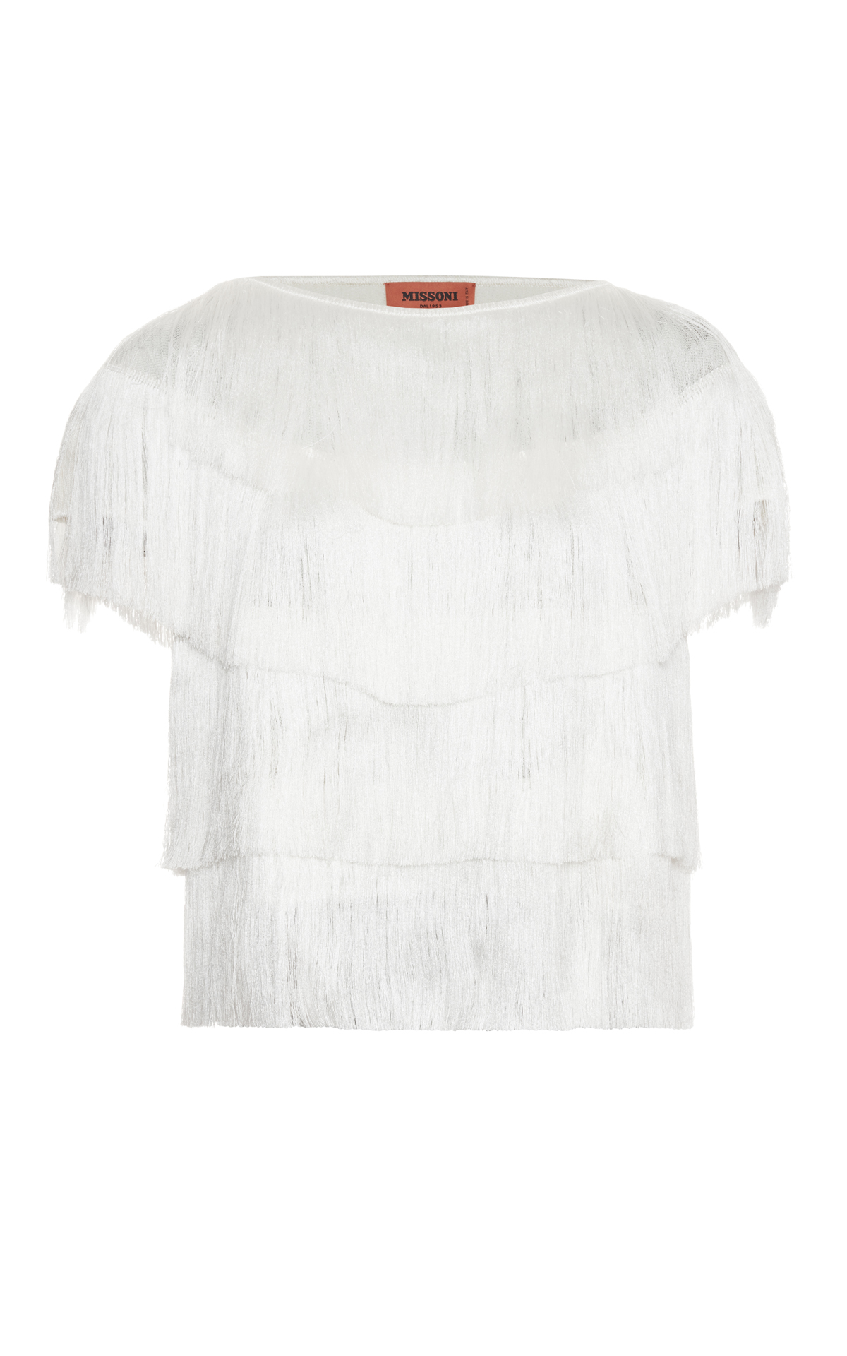 Missoni White fringe top from Bicester Village