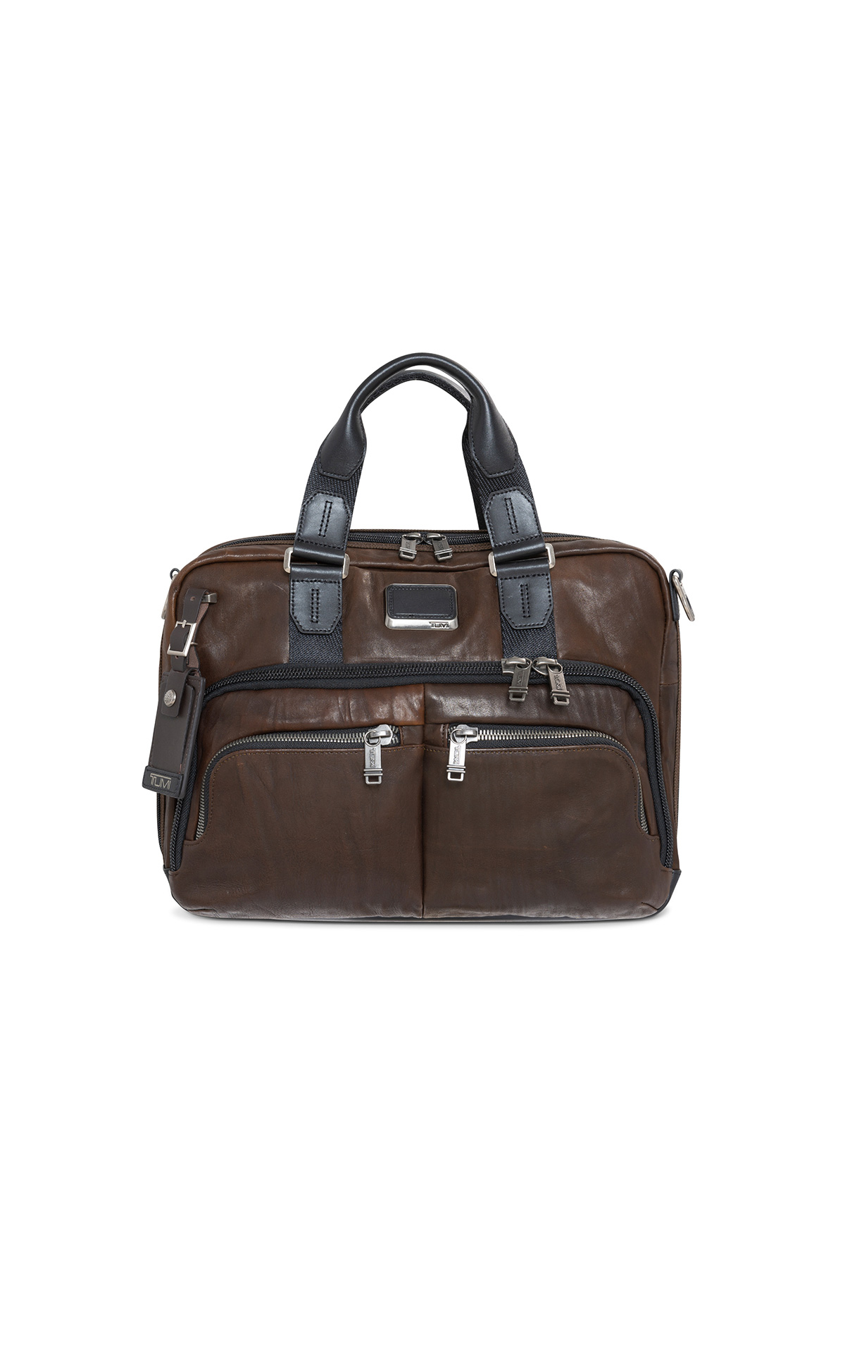 Tumi brown briefcase