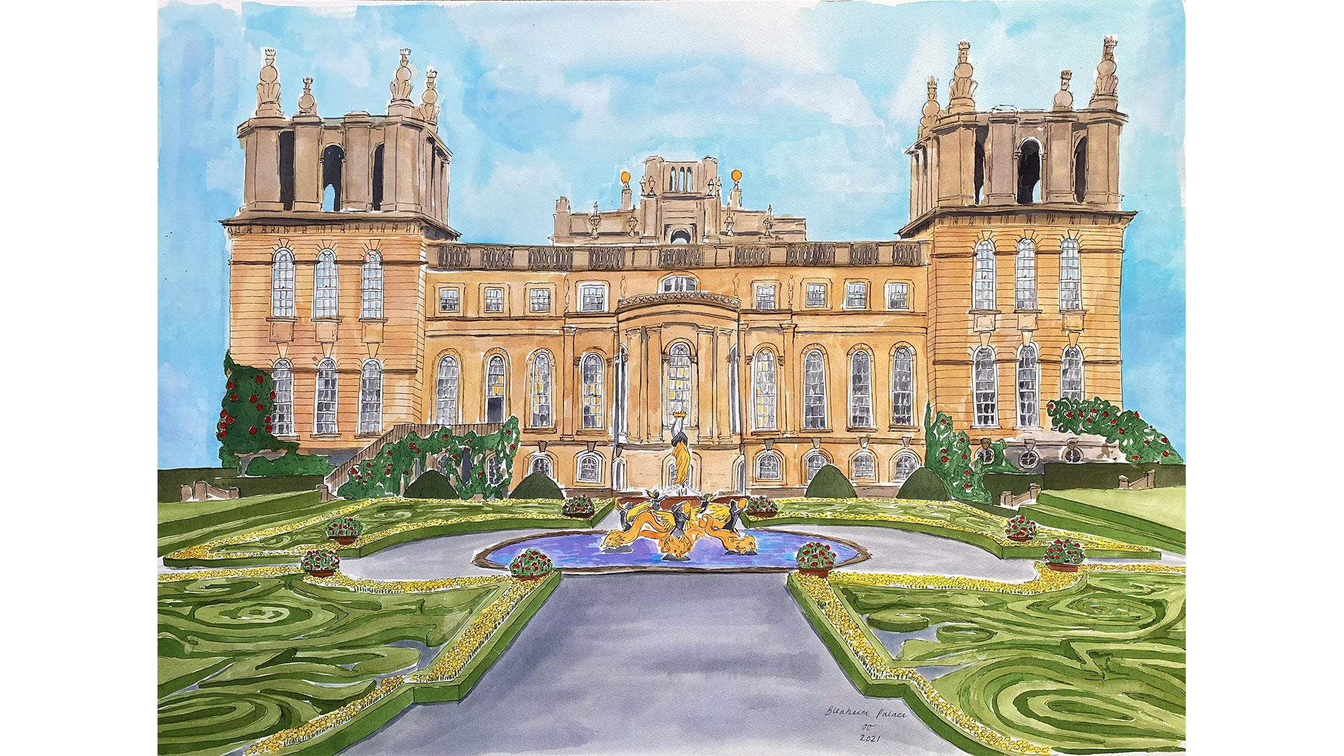 Blenheim Park Palace in the Cotswolds at Bicester Village
