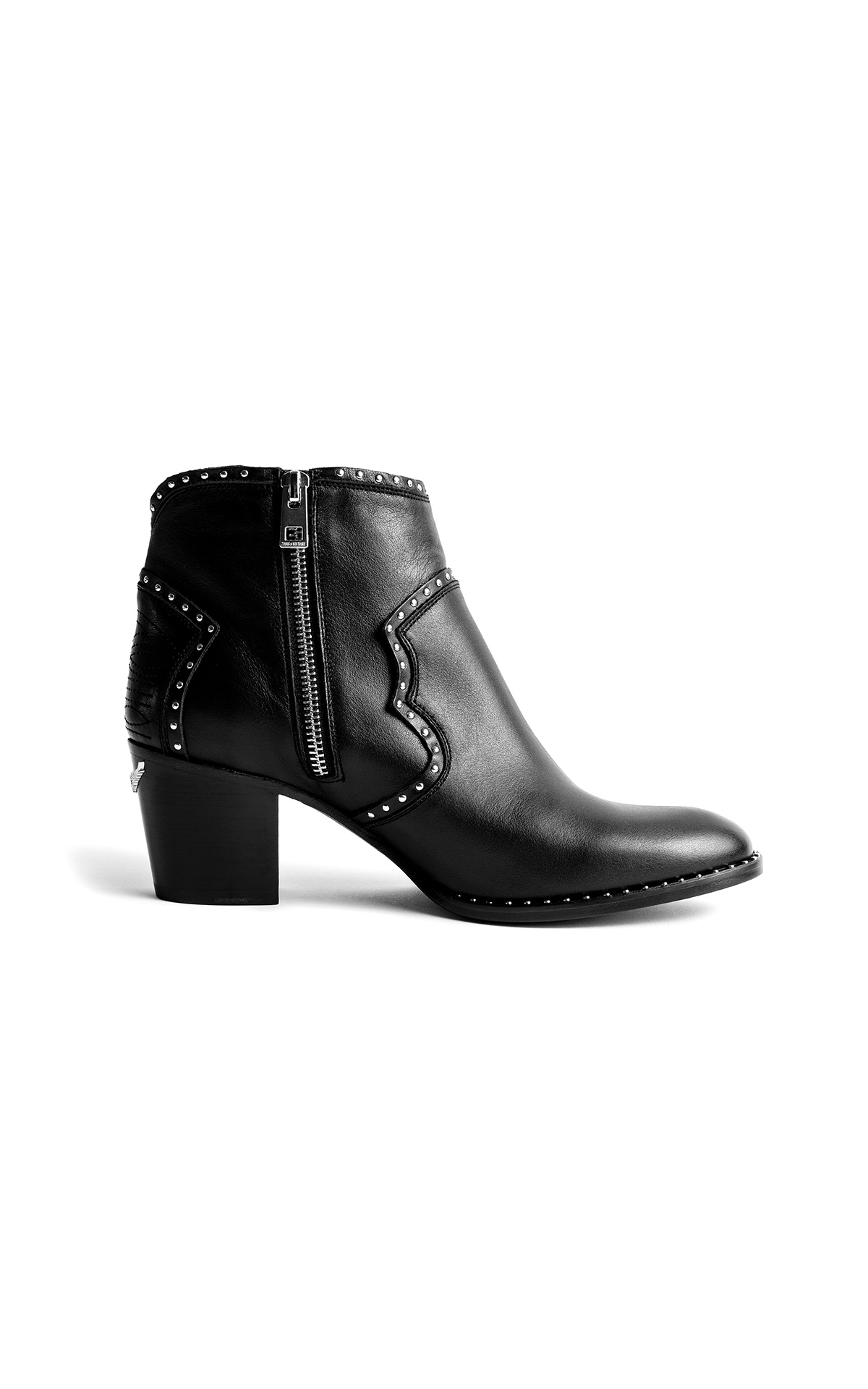 Zadig & Voltaire Bottines Molly Studs noires | La Vallée Village