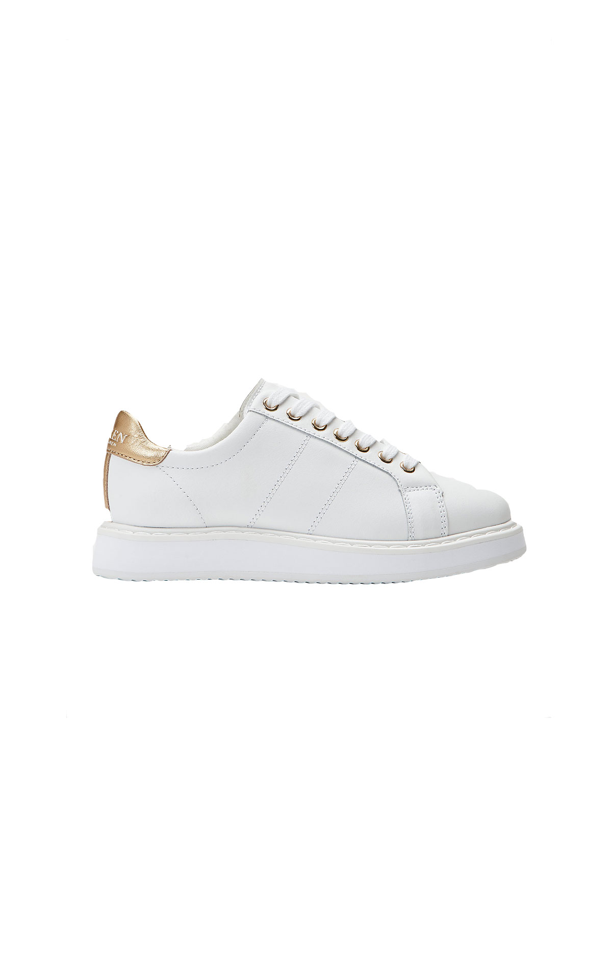Polo Ralph Lauren Angeline leather trainer from Bicester Village