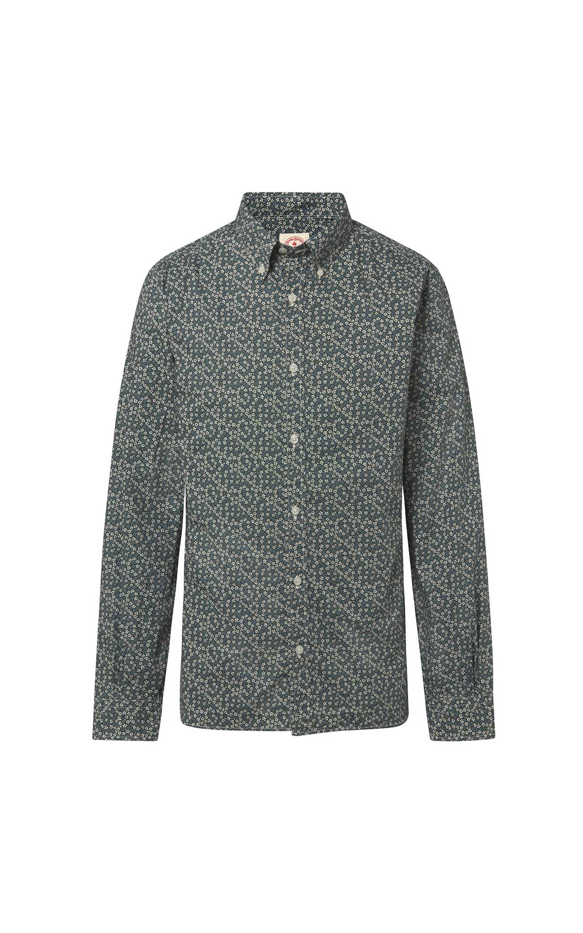 Camisa gris estampada flores Brooks Brothers