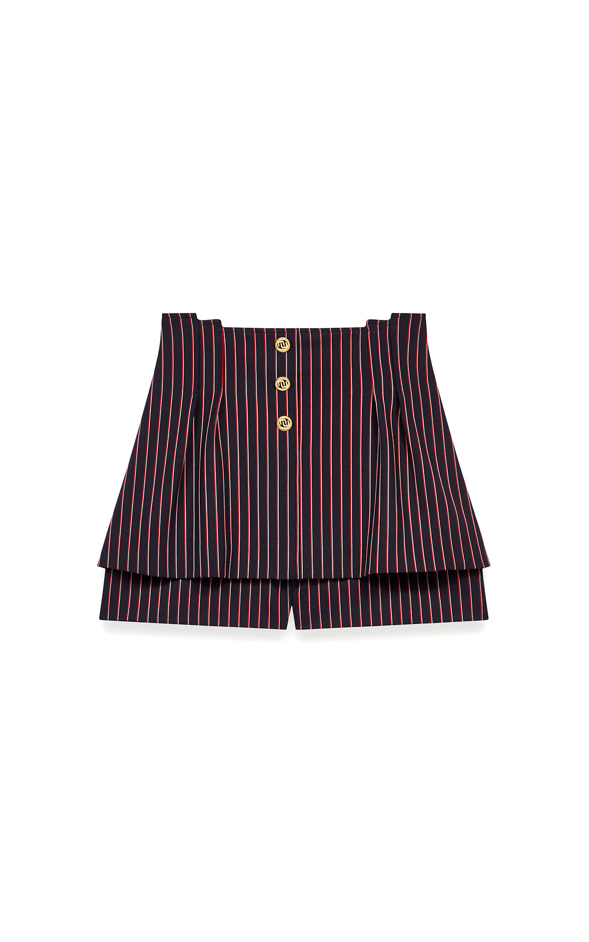 Maje trompe-l'oeil-effect striped shorts at The Bicester Village Shopping Collection