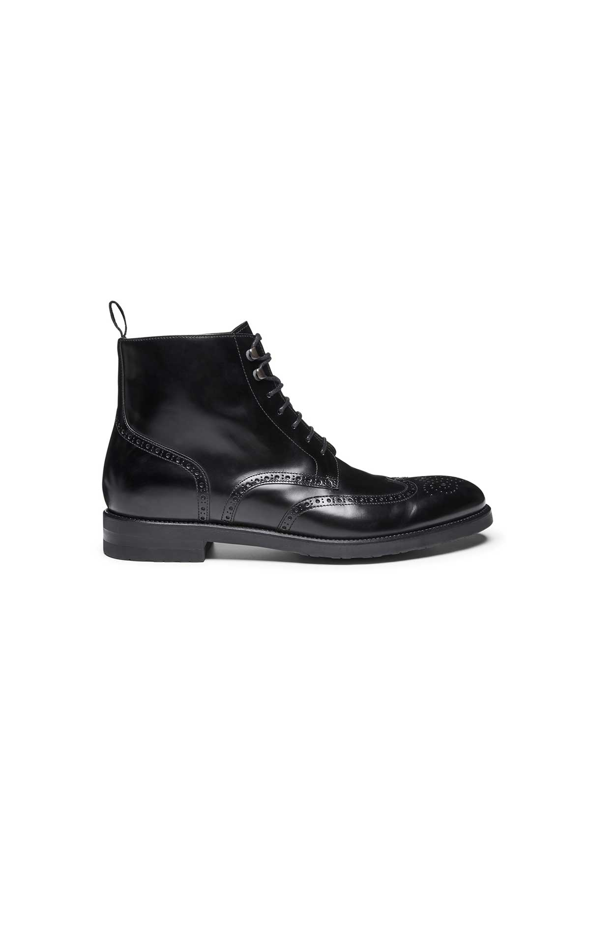 Lace-up black ankle boots for men from Lottusse