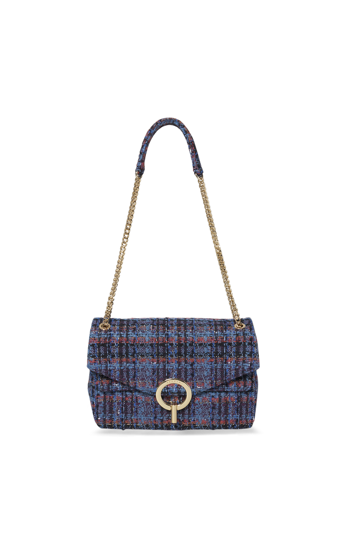 Sandro Sac à main en tweed multicolore*
