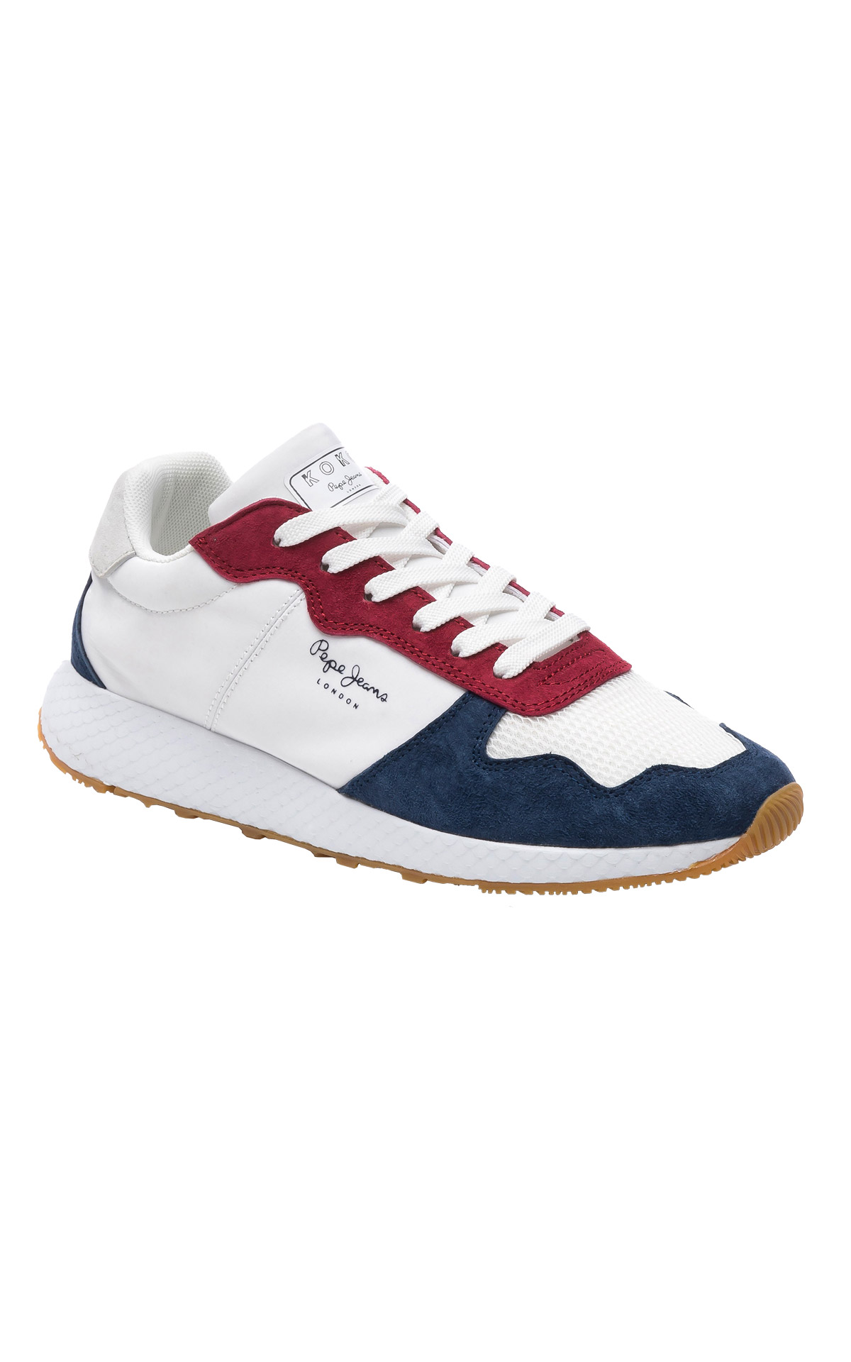 White, red and blue sneakers man Pepe Jeans
