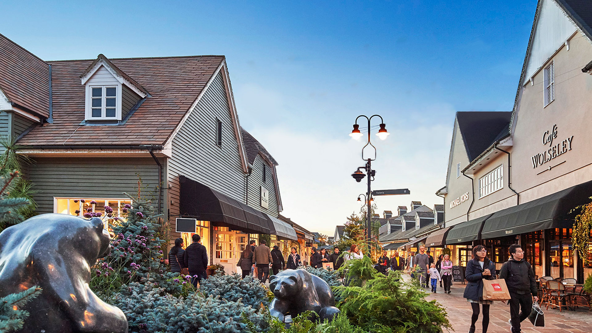 Bicester Village Evening Image