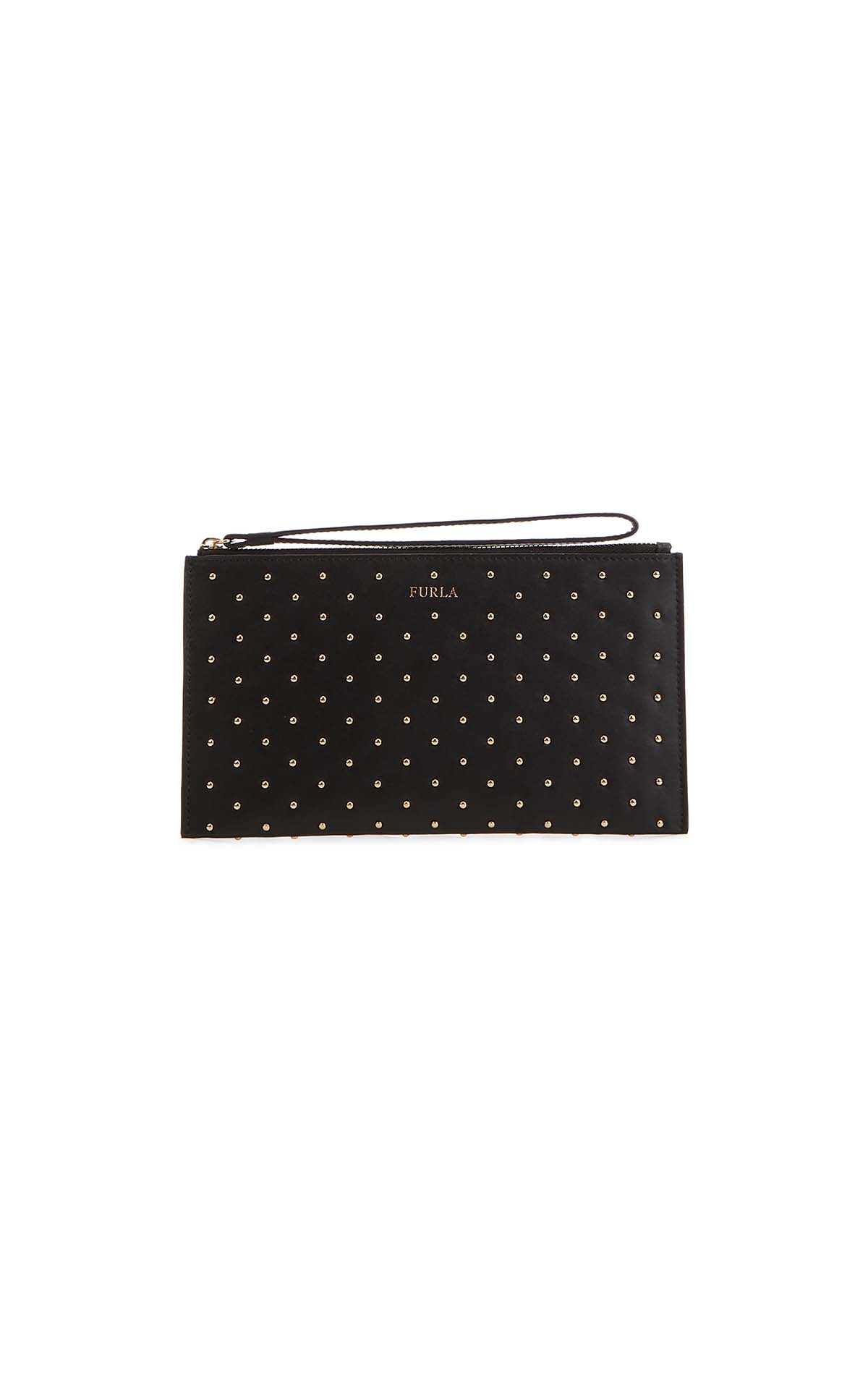 Furla Italia XL envelope black bag at The Bicester Village Shopping Collection
