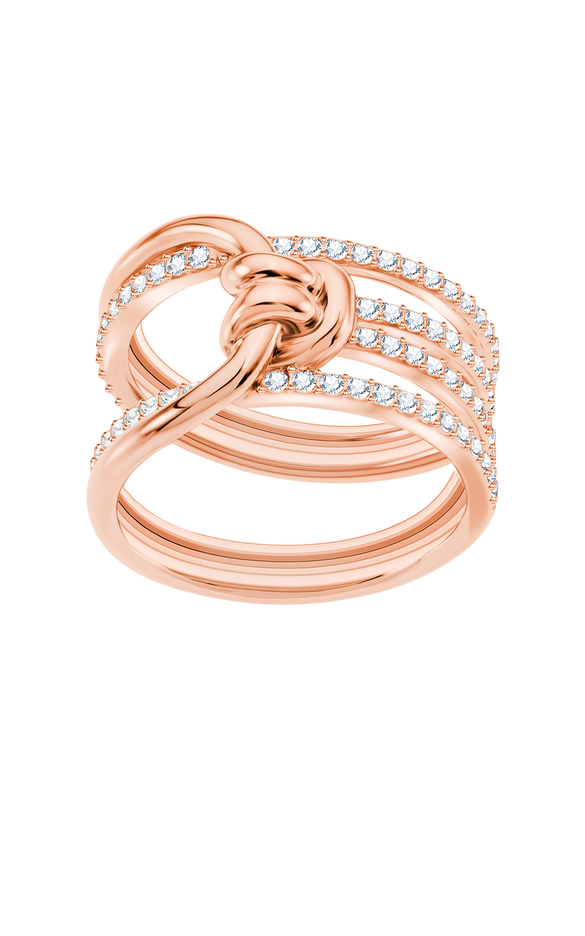 Rose gold ring Swarovsky