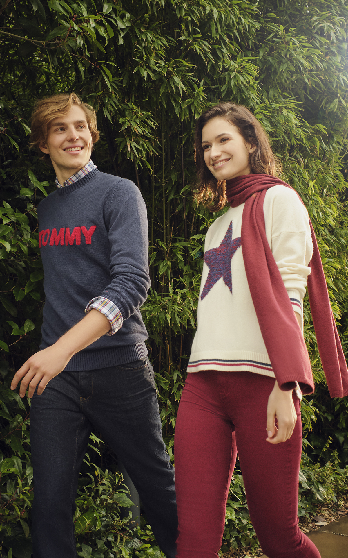 Couple in Tommy Hlifiger clothing