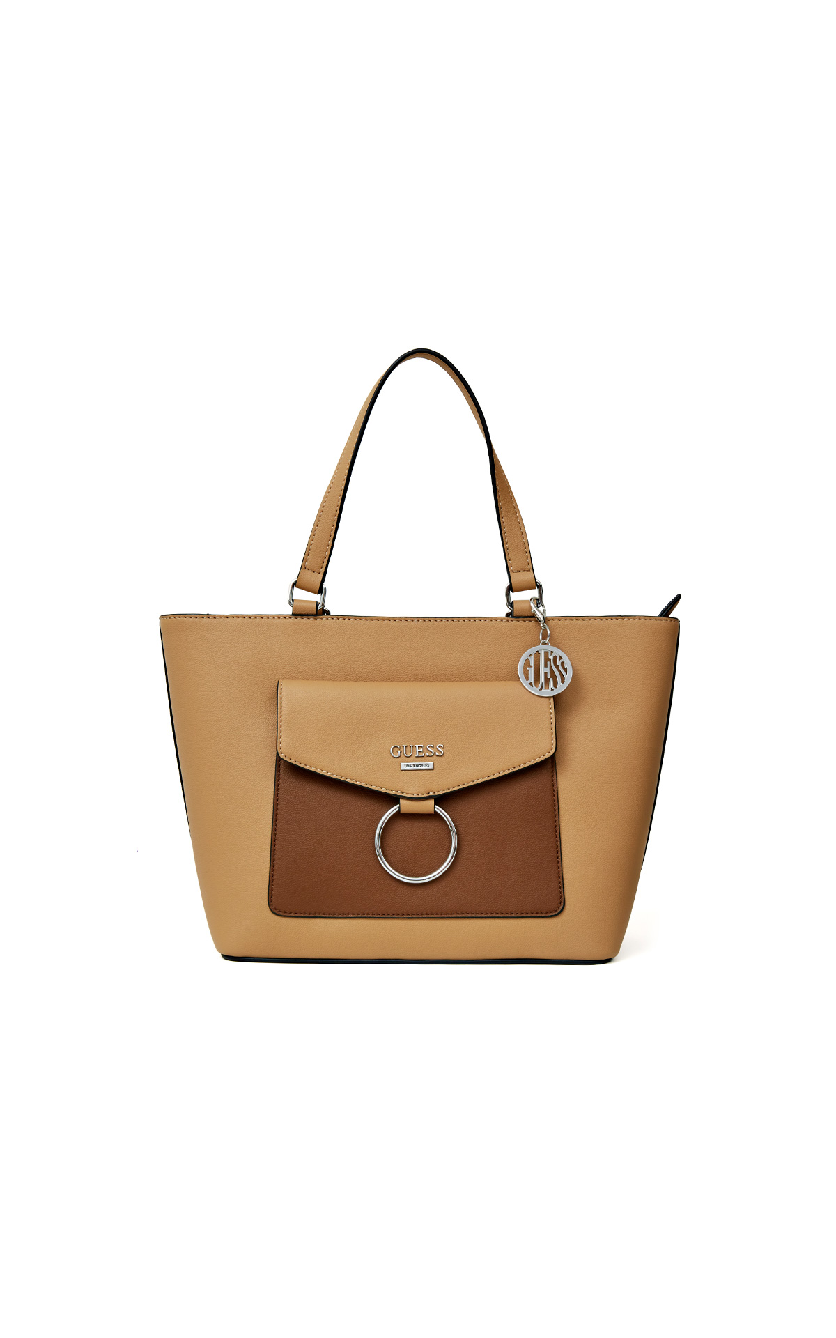 Brown Amael flap carryall bag for woman de Guess