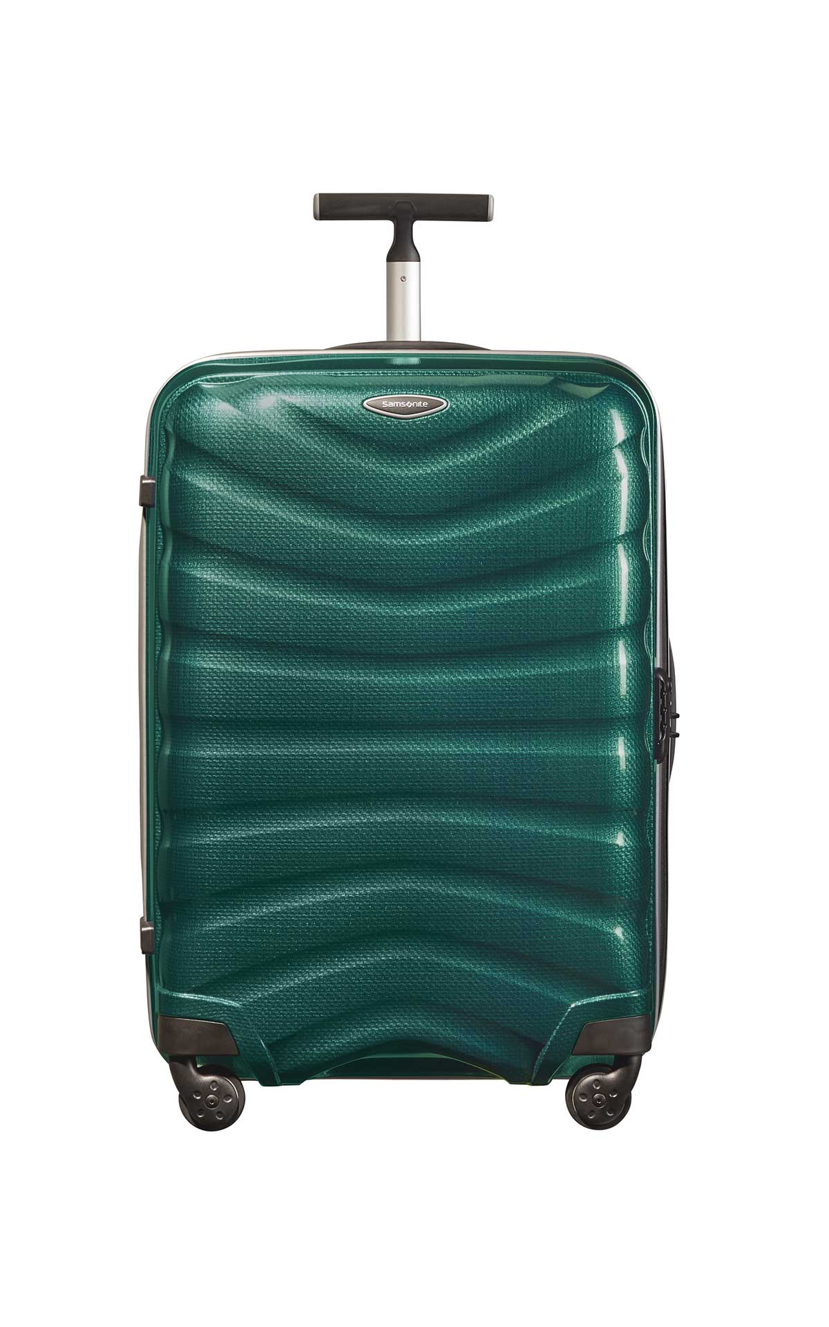 Green Firelite suitcase Samsonite