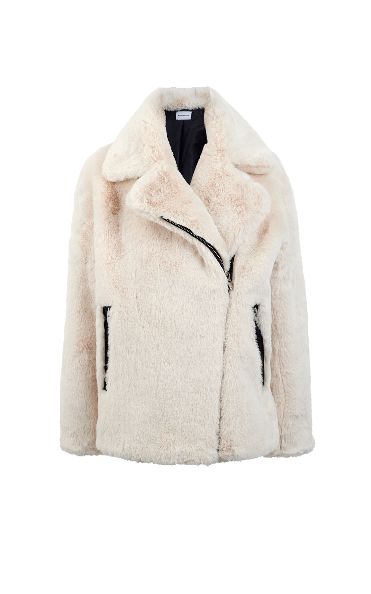 Chaqueta de pelo blanca The Kooples