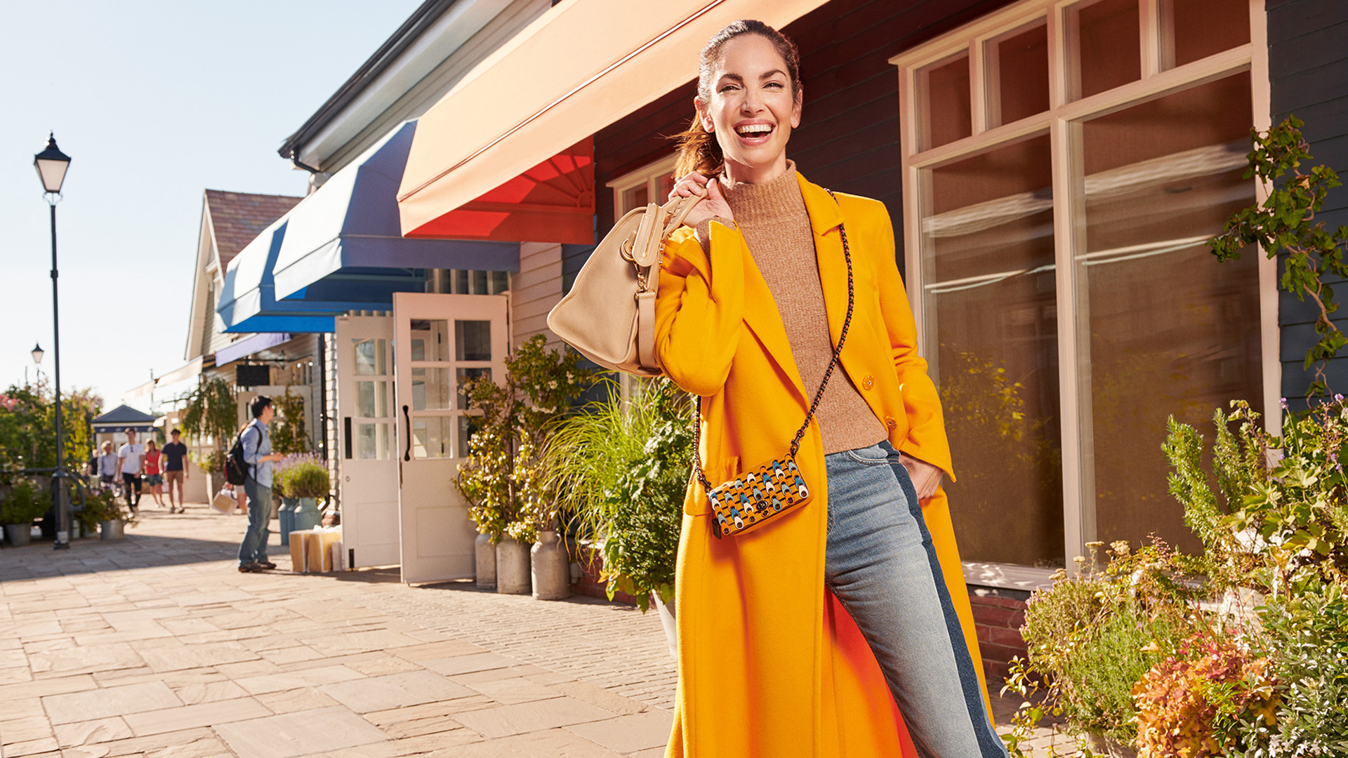 Eugenia Silva models in The Bicester Village Shopping Collection autumn campaign shoot