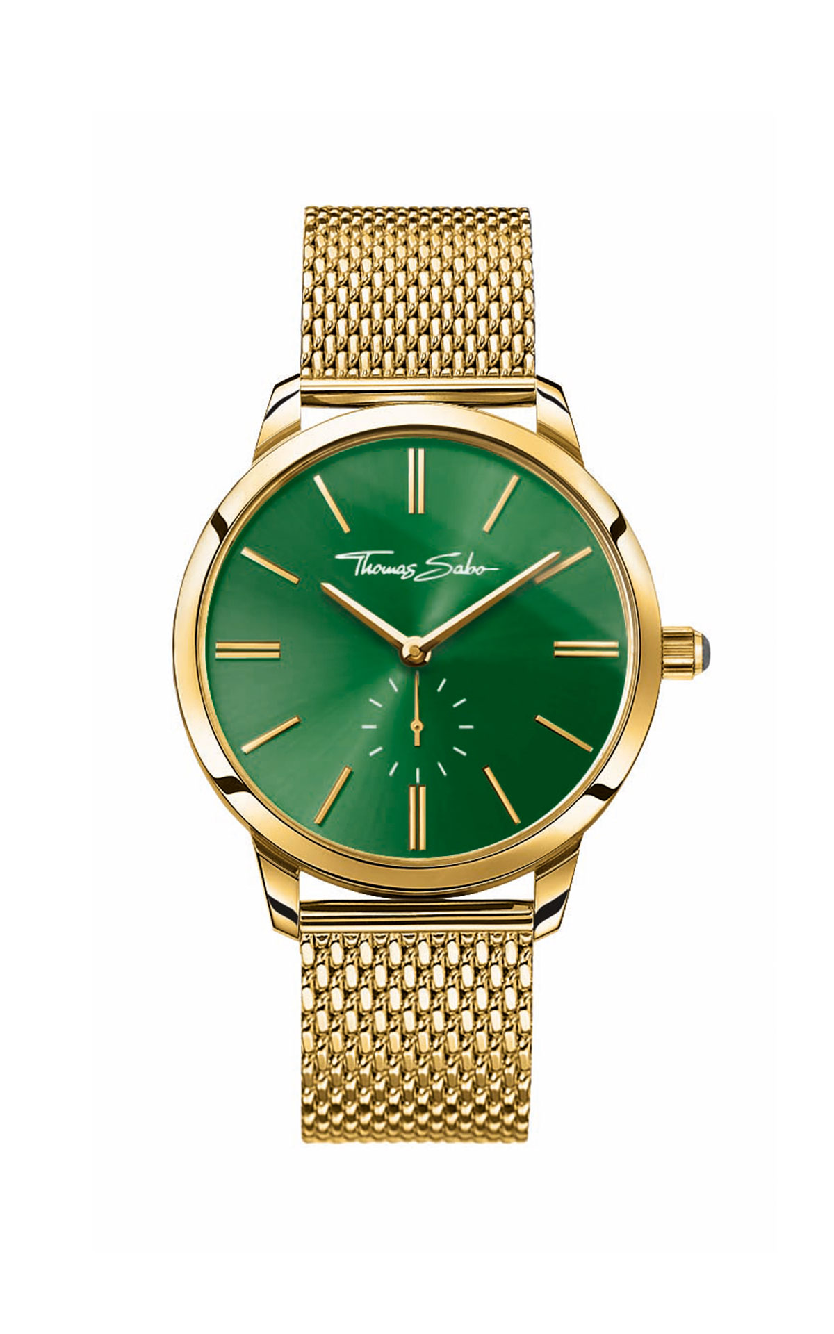 Gold watch with green dial Thomas Sabo
