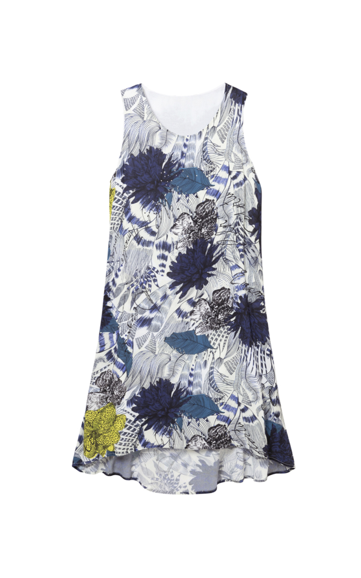T-shirt with blue flowers for woman Desigual