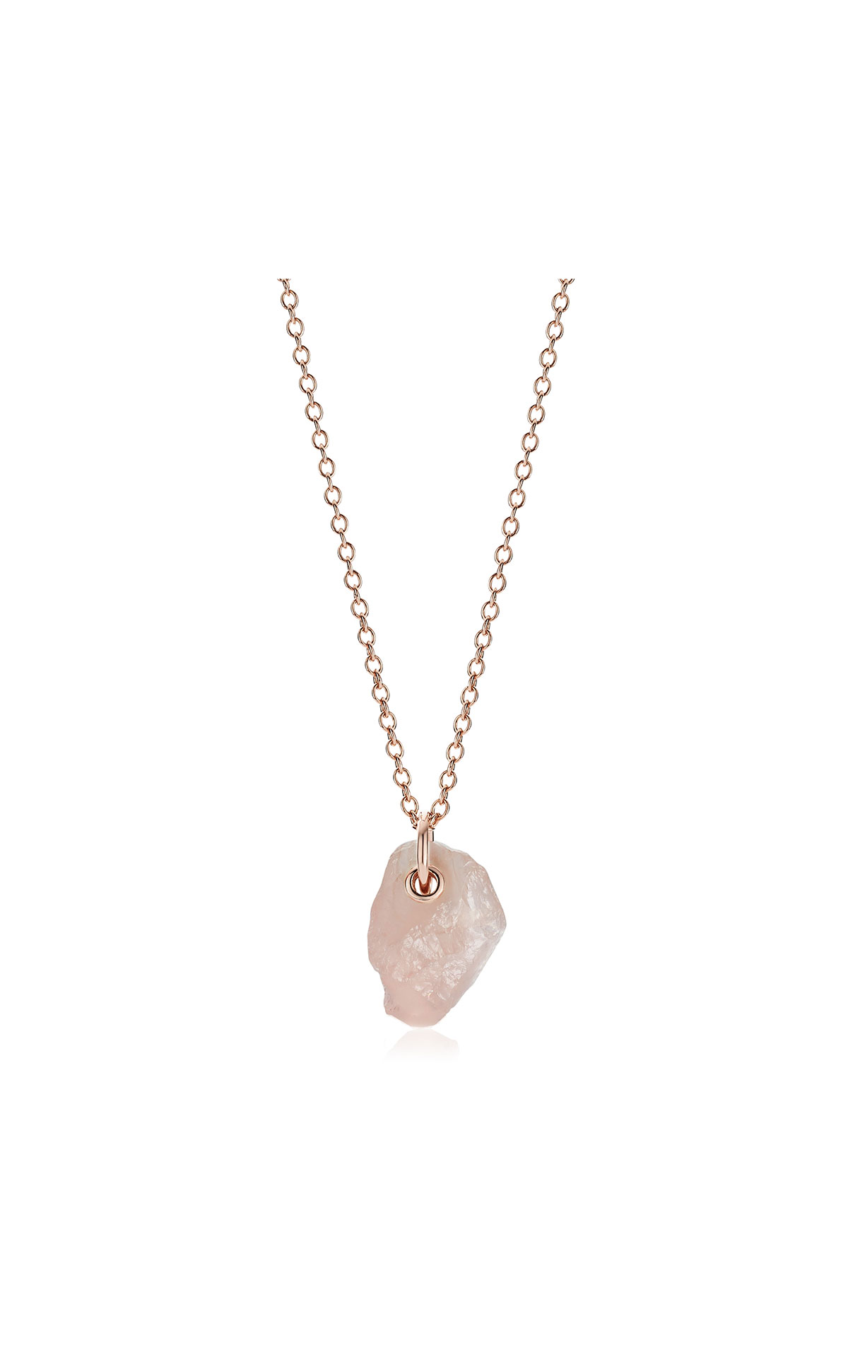 Monica Vinader Rose gold vermeil gemstone large pendant adjustable necklace  - rose quartz from Bicester Village