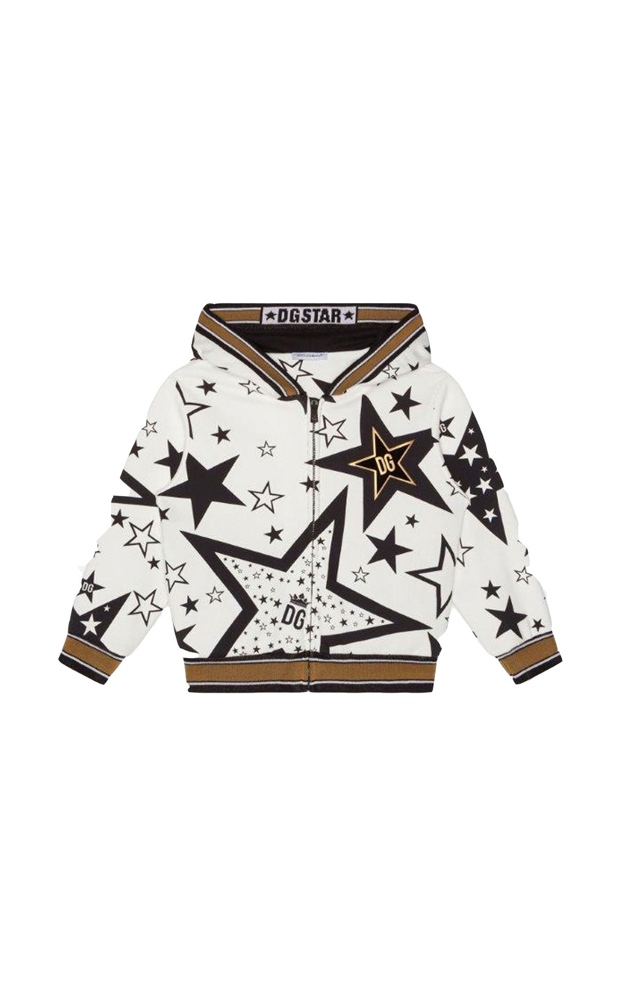Dolce & Gabbaba Star print hooded sweatshirt from Bicester Village
