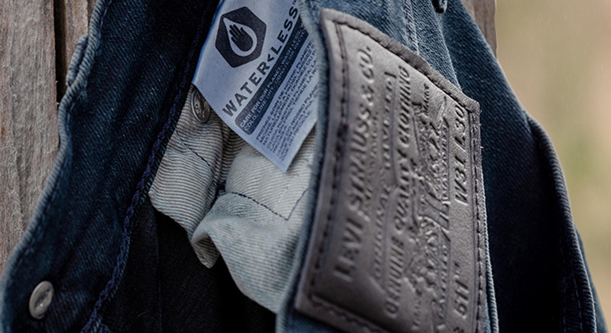 Water<Less® logo in a Levi's jean