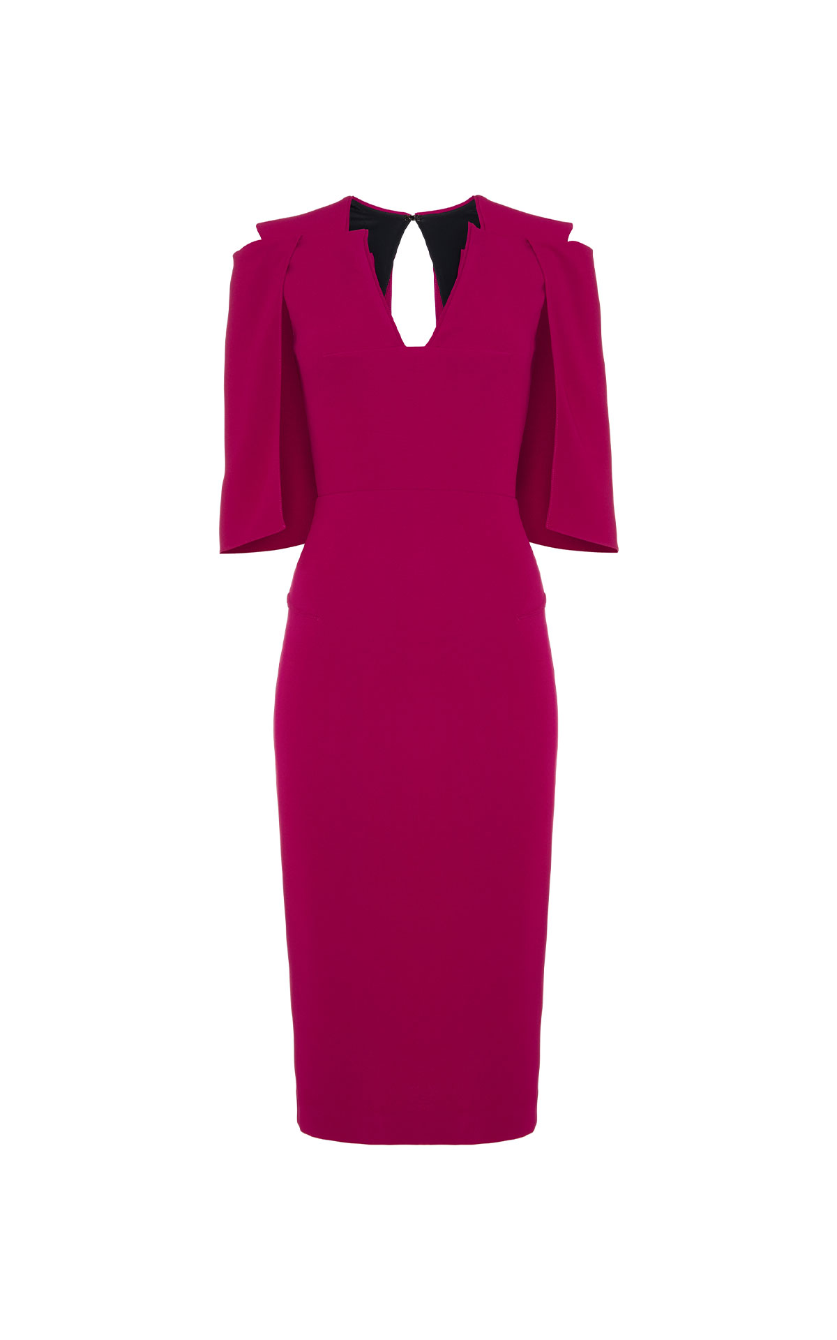 Roland Mouret Queensbury orchid pink dress from Bicester Village