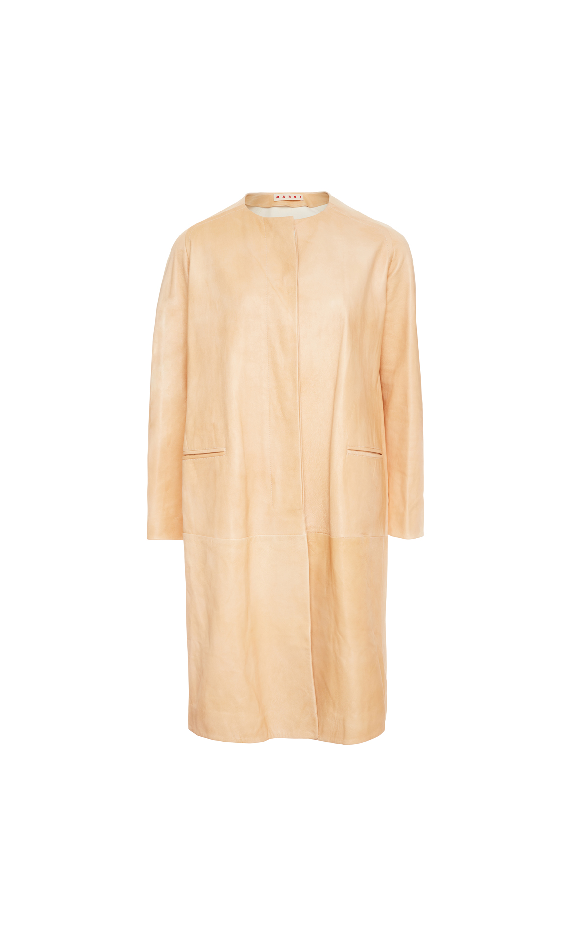 Marni Leather duster coat from Bicester Village