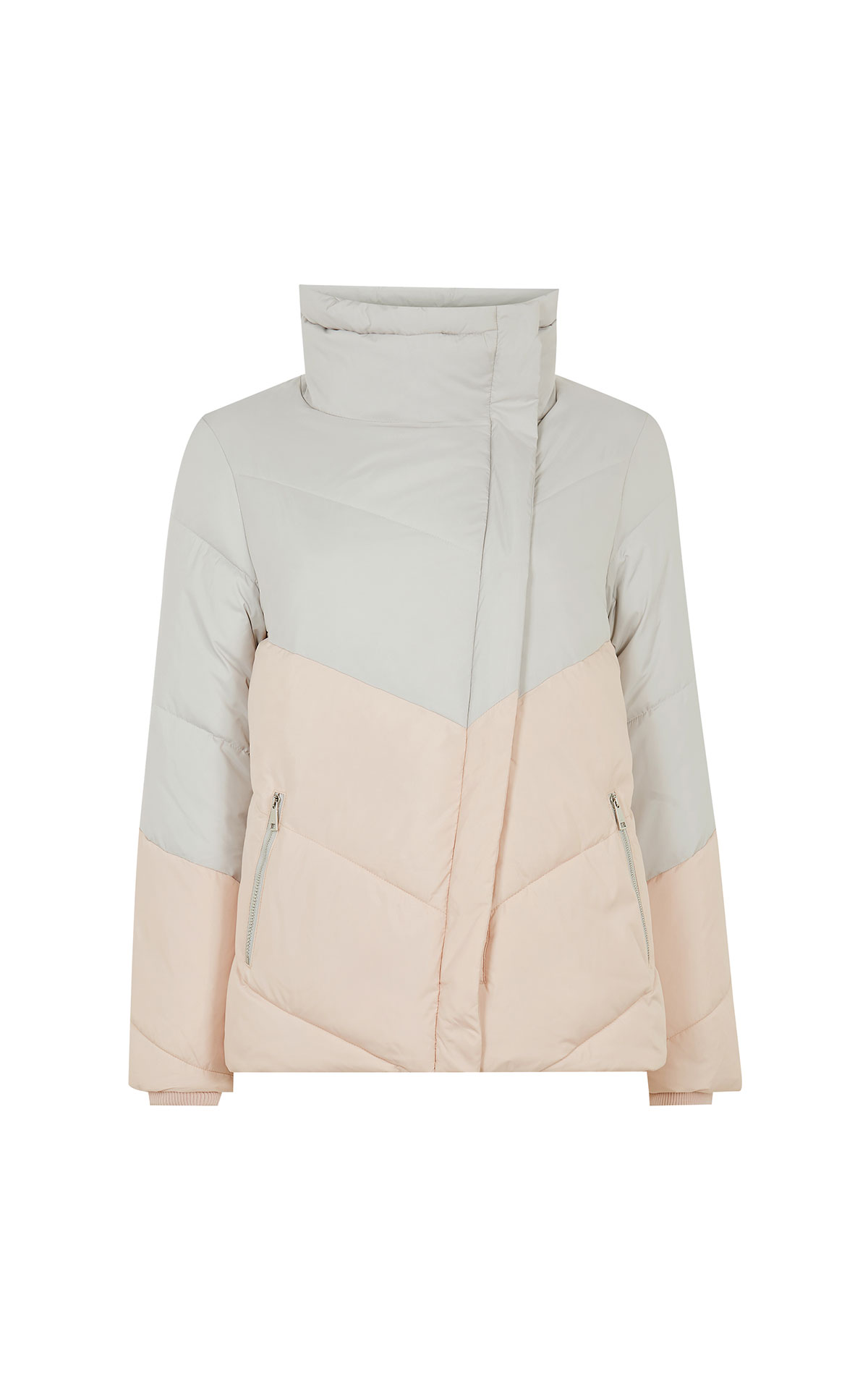Ted Baker Bubs grey wrap padded jacket from Bicester Village
