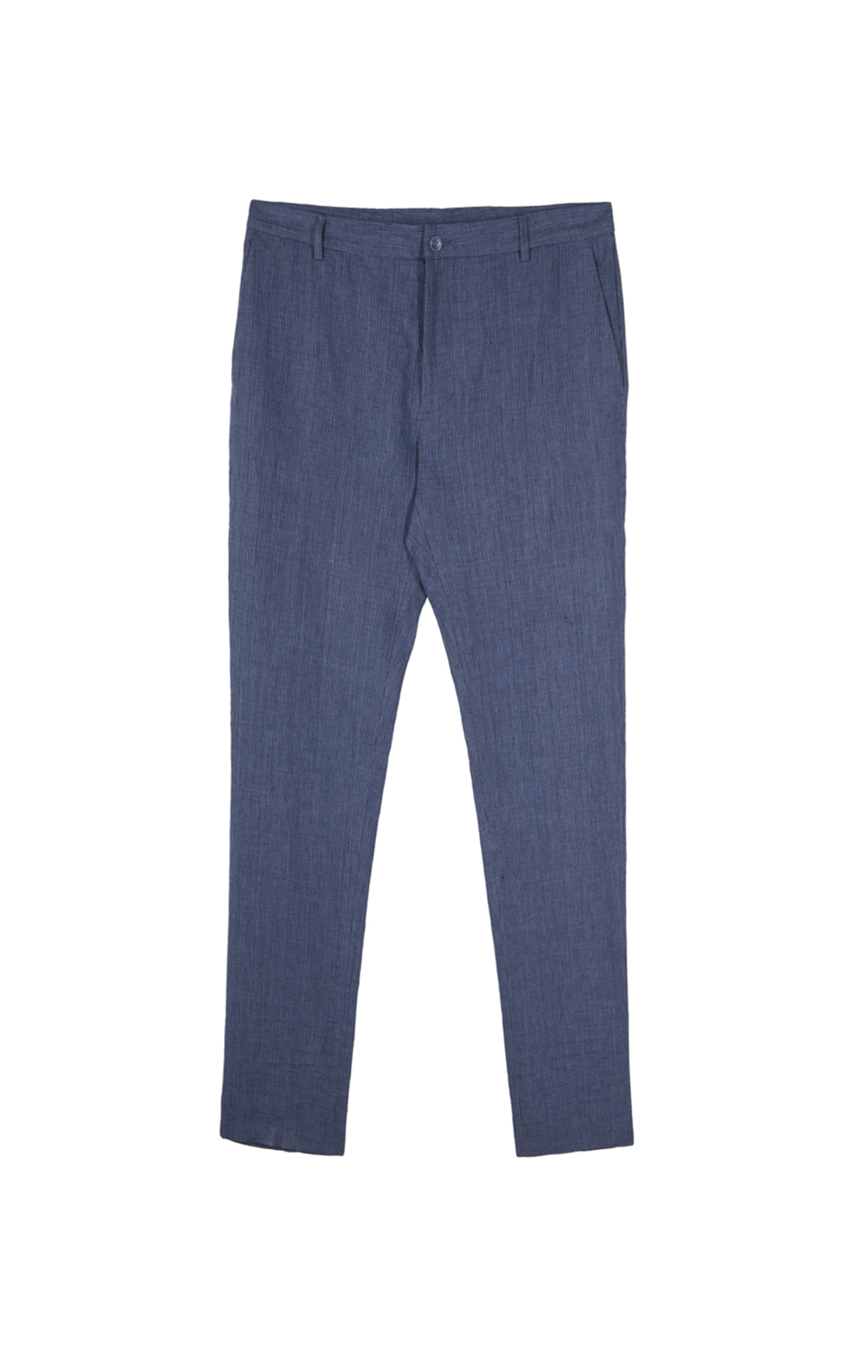 Blue linen trousers Adolfo Dominguez
