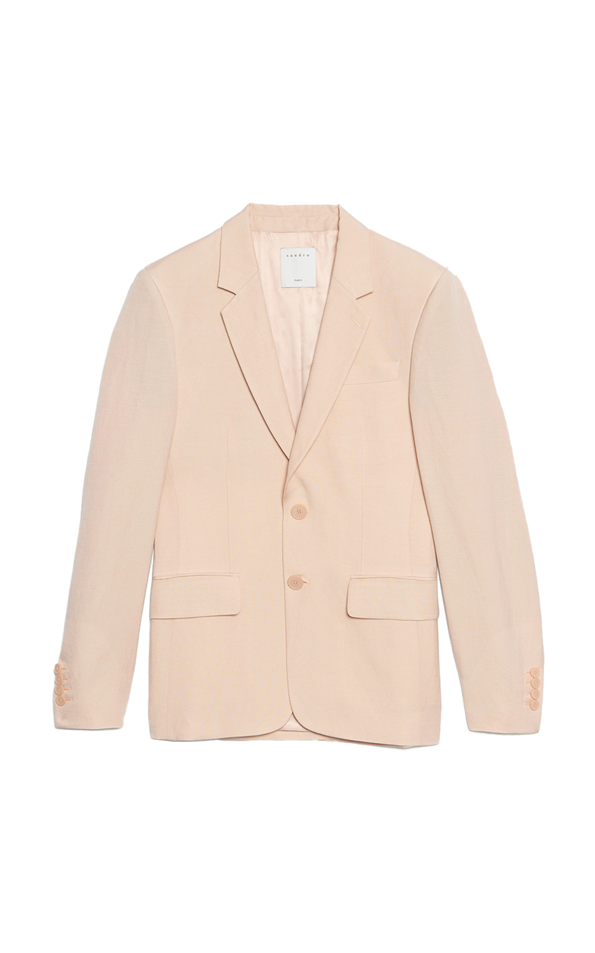 Sandro Classic suit jacket with two front buttons, lined at The Bicester Village Shopping Collection