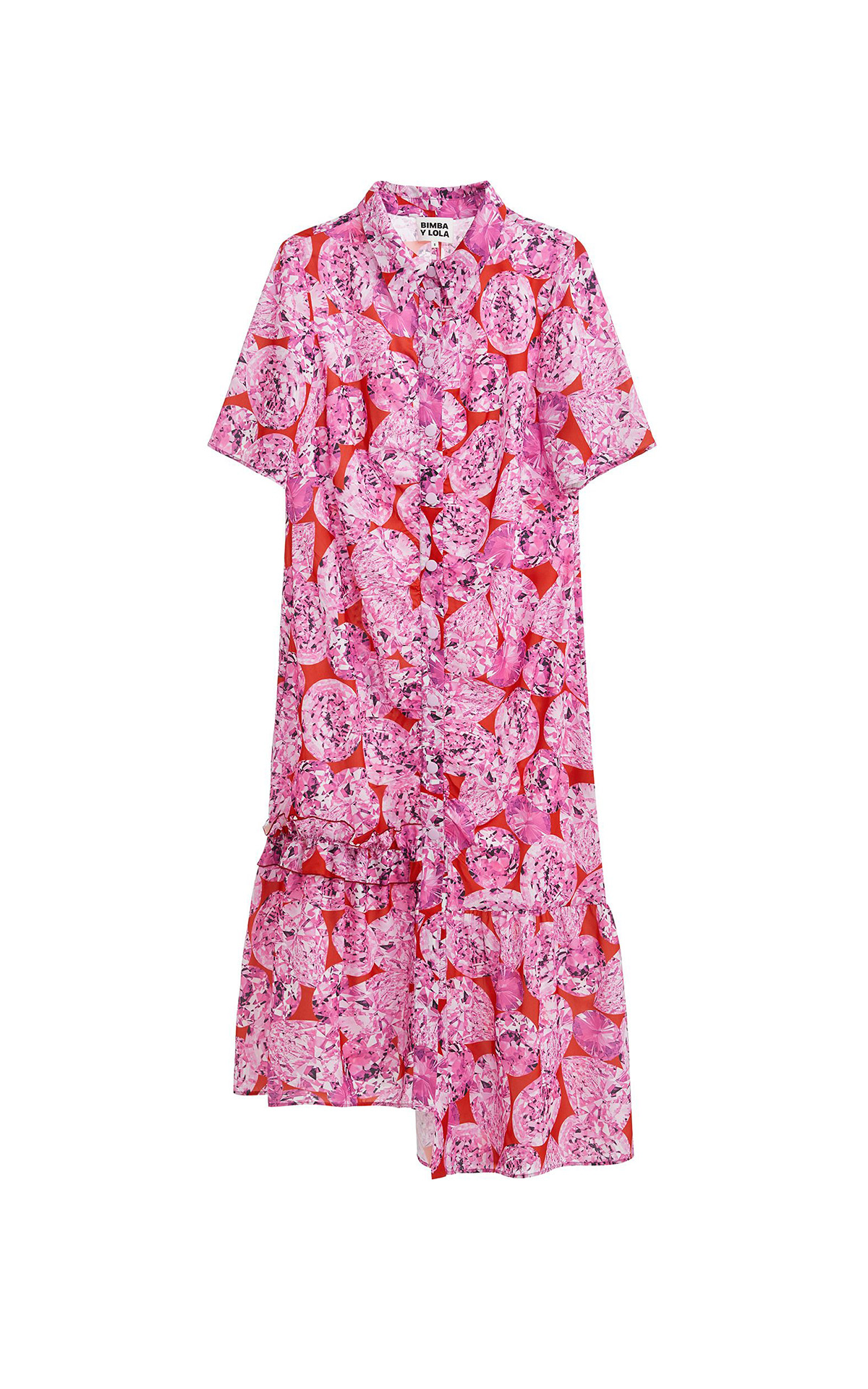 Pink flowered dress Bimba y Lola