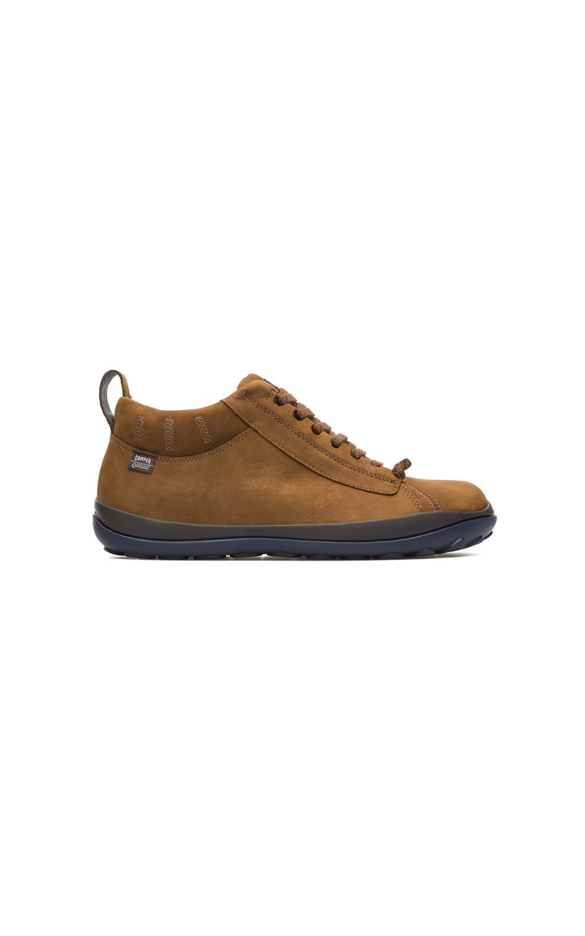 Brown leather sneakers man Camper