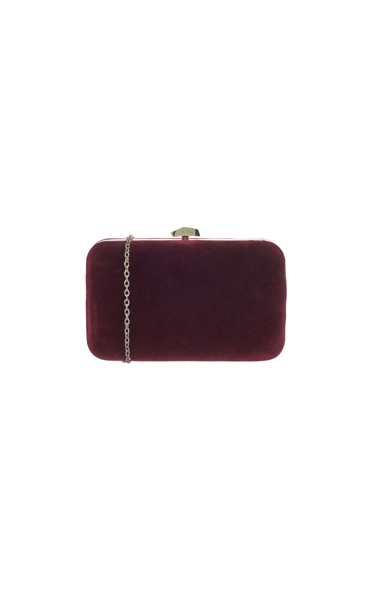 Coccinelle Velvet box clutch red from Bicester Village