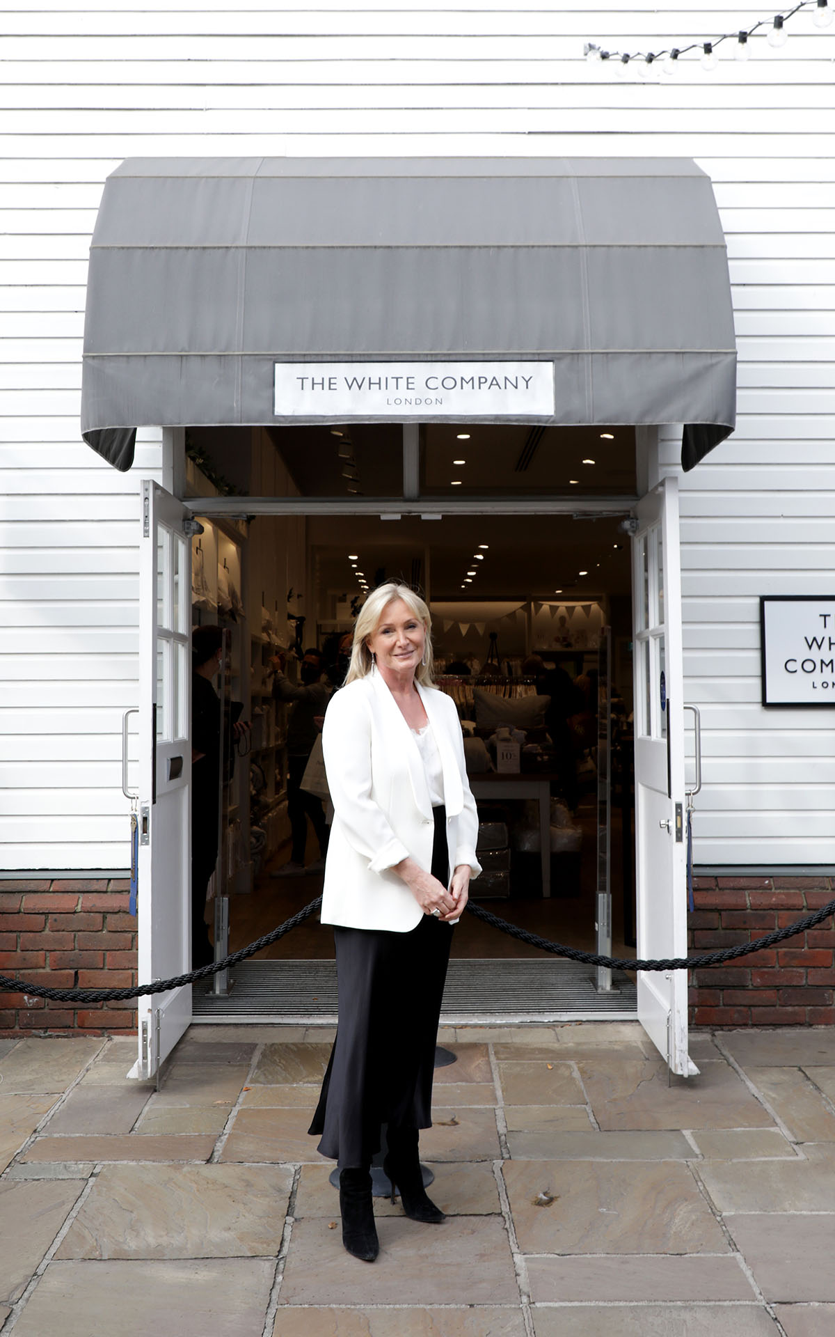 Chrissie Rucker, The White Company, at Bicester Village
