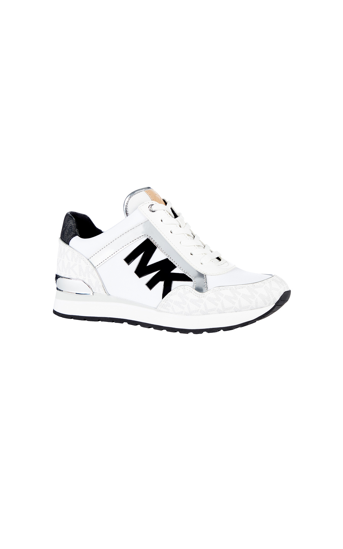 Michael Kors Maddy trainer in bright white at The Bicester Village Shopping Collection