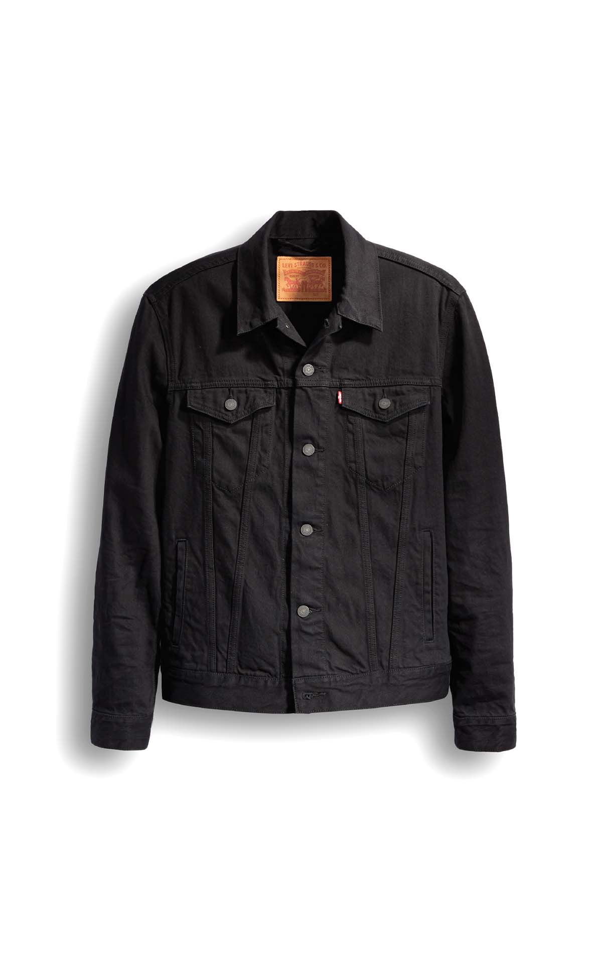 Levi's mens THE TRUCKER JACKET BERKMAN in black at The Bicester Village Shopping Collection
