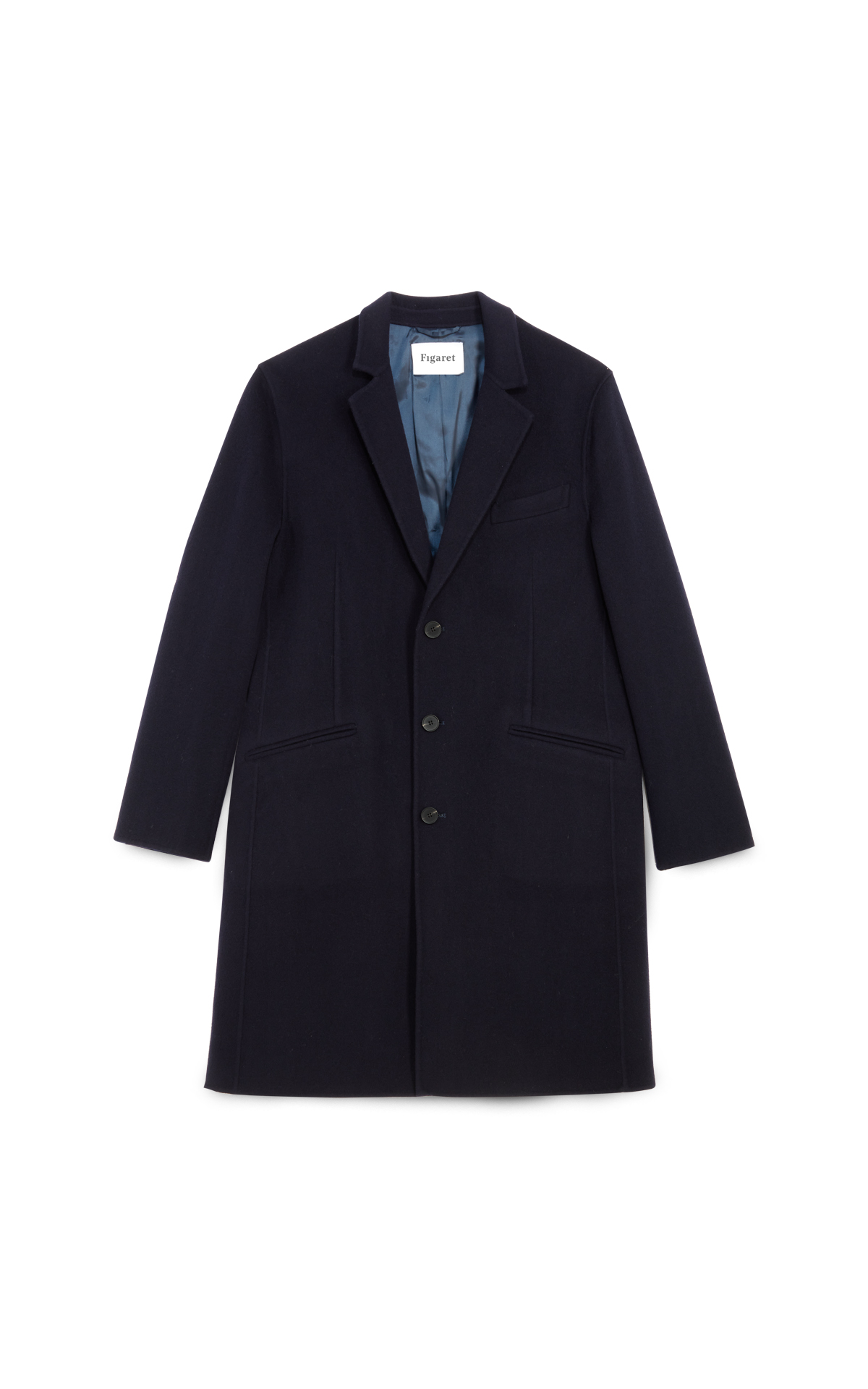 Figaret Paris Manteau Bleu Marine George la vallée village