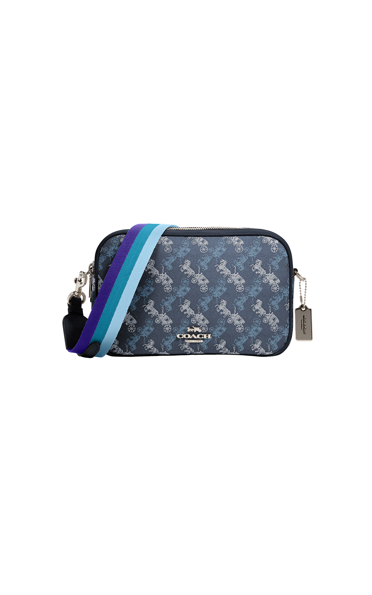 Coach Horse and Carriage Jes Crossbody in blue at The Bicester Village Shopping Collection